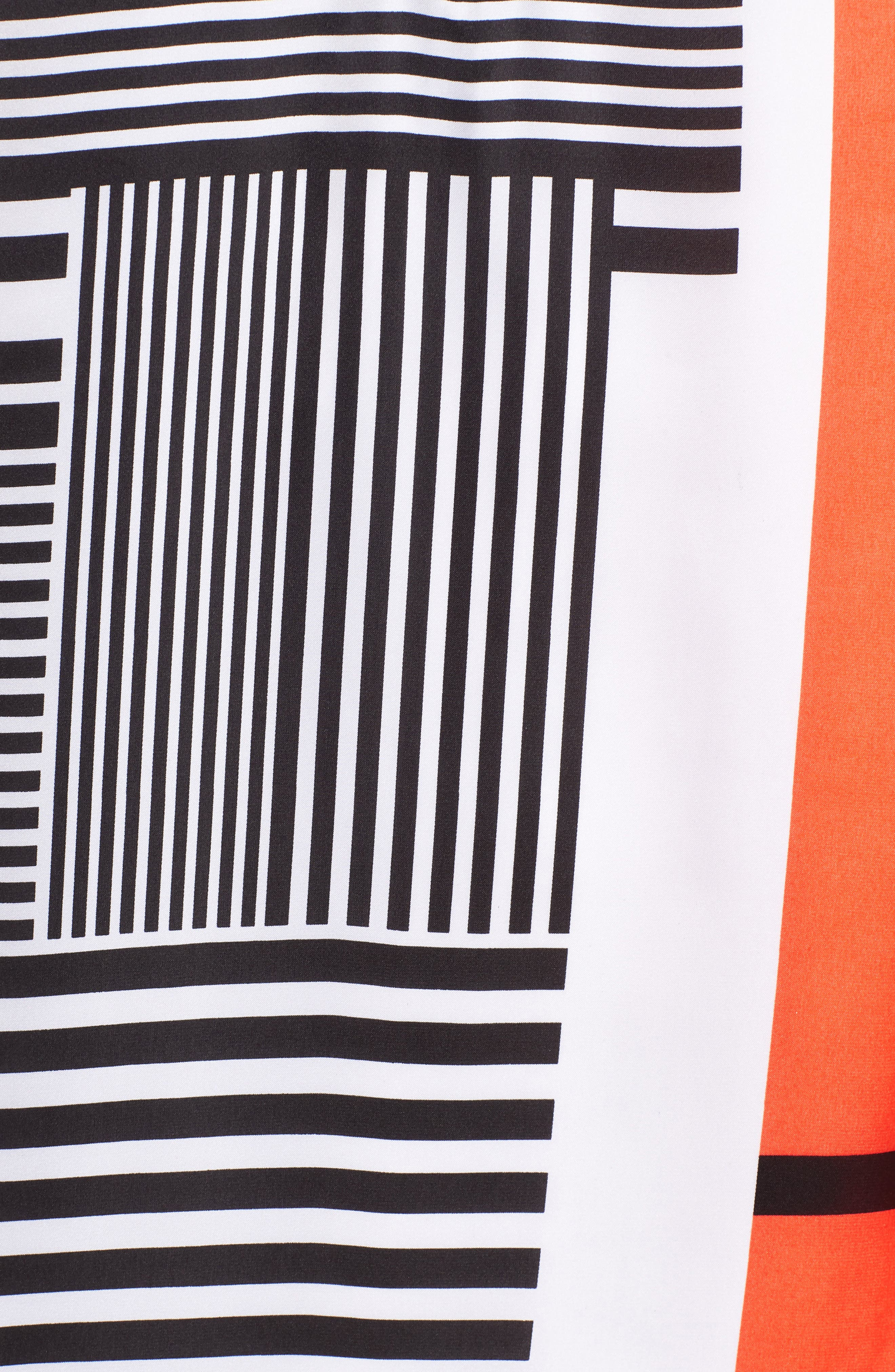 Mix Stripe V-Neck Shift Dress,                             Alternate thumbnail 6, color,                             Pop Red