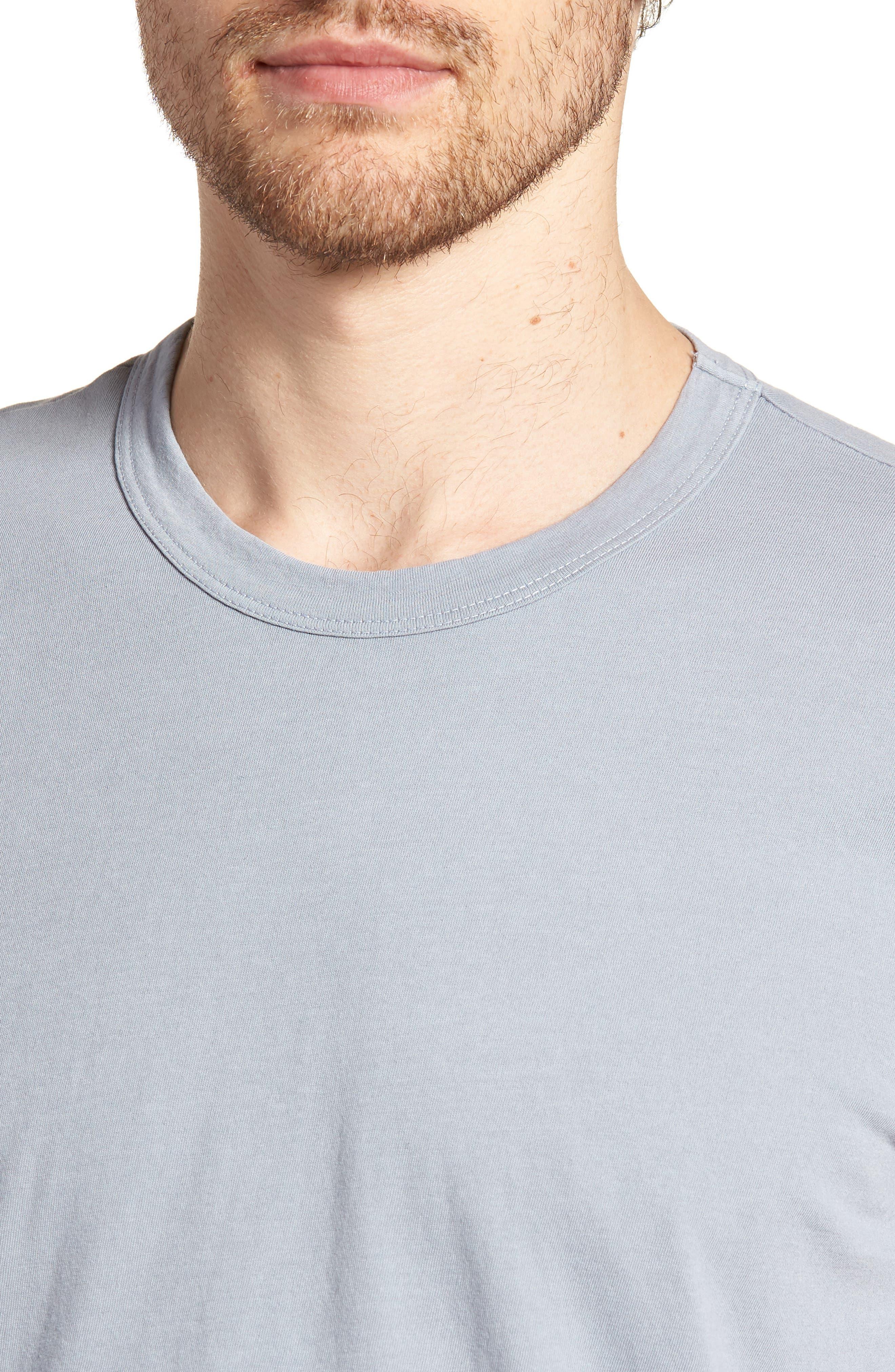 Checkerboard Crewneck T-Shirt,                             Alternate thumbnail 4, color,                             Grey Sky Pigment