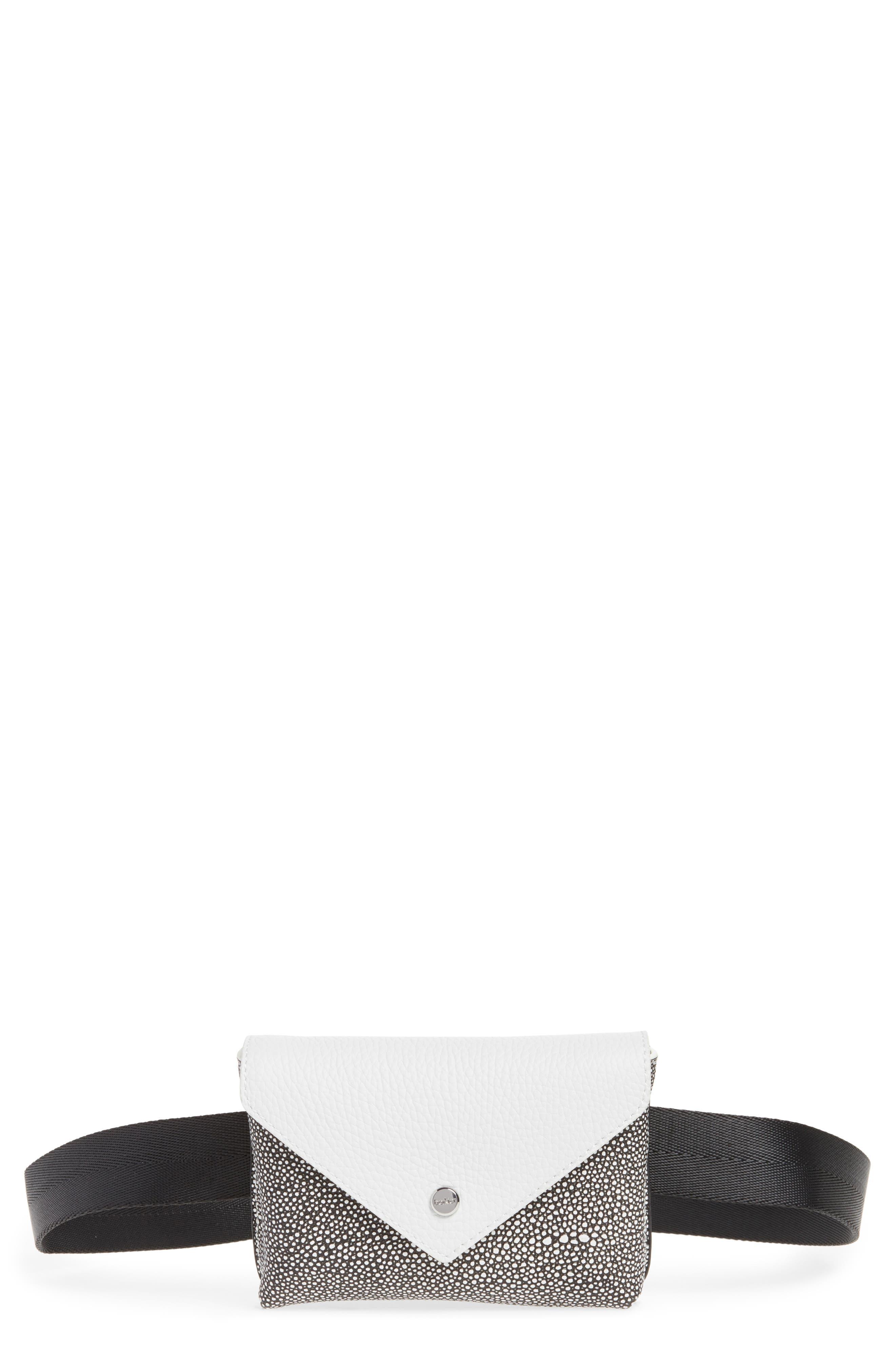 Vivi Calfskin Leather Convertible Belt Bag,                             Main thumbnail 1, color,                             Chalk Stingray