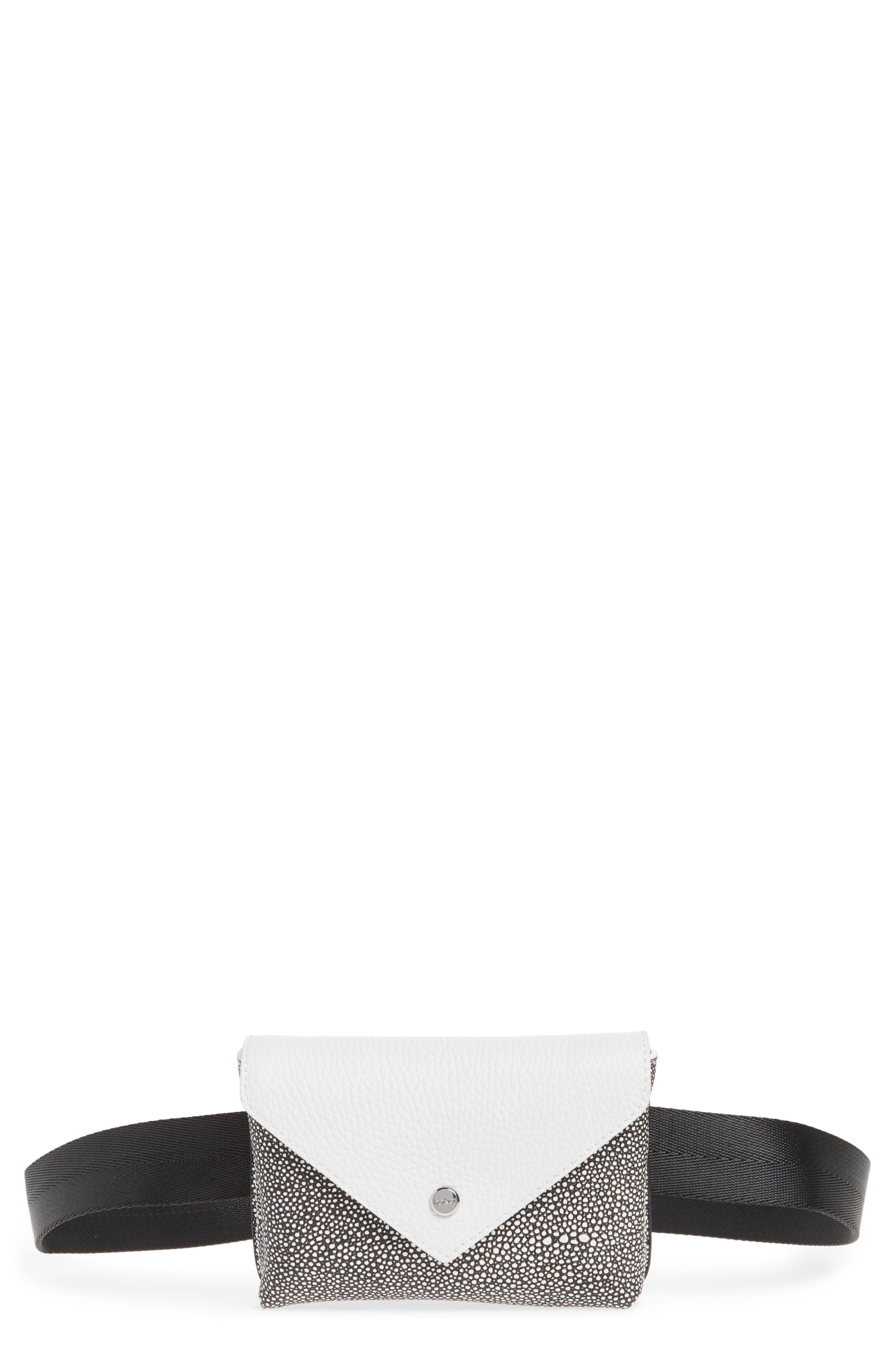 Vivi Calfskin Leather Convertible Belt Bag,                         Main,                         color, Chalk Stingray