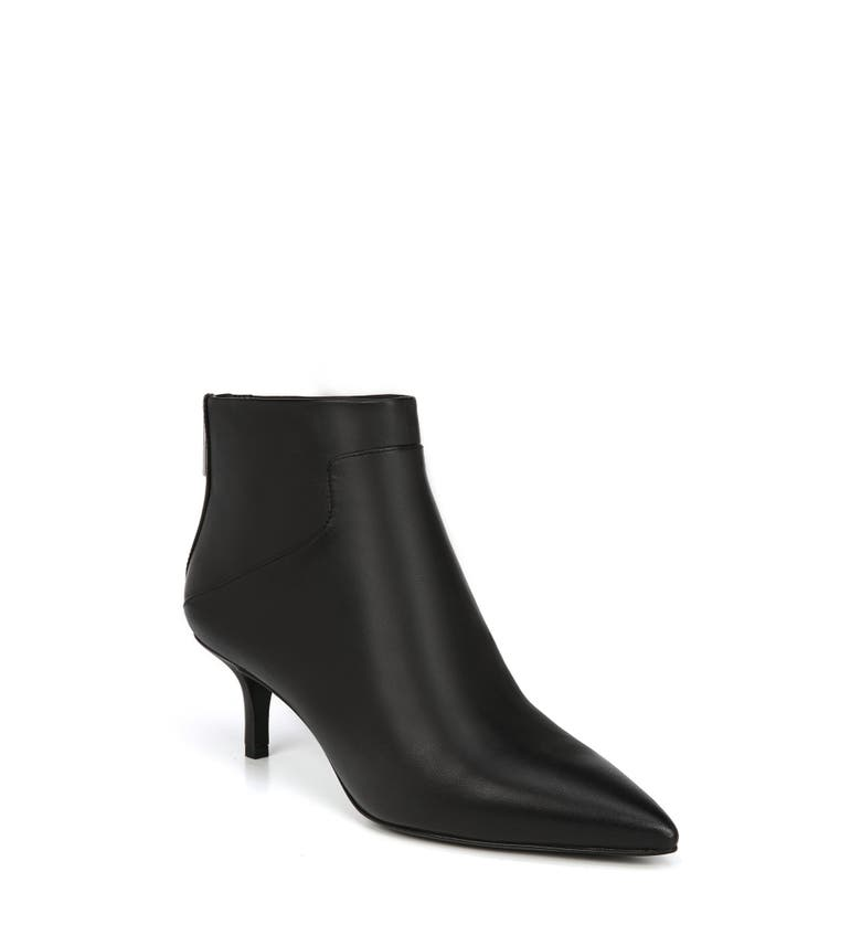 Madilyn Pointy Toe Bootie,                         Main,                         color, Black Leather