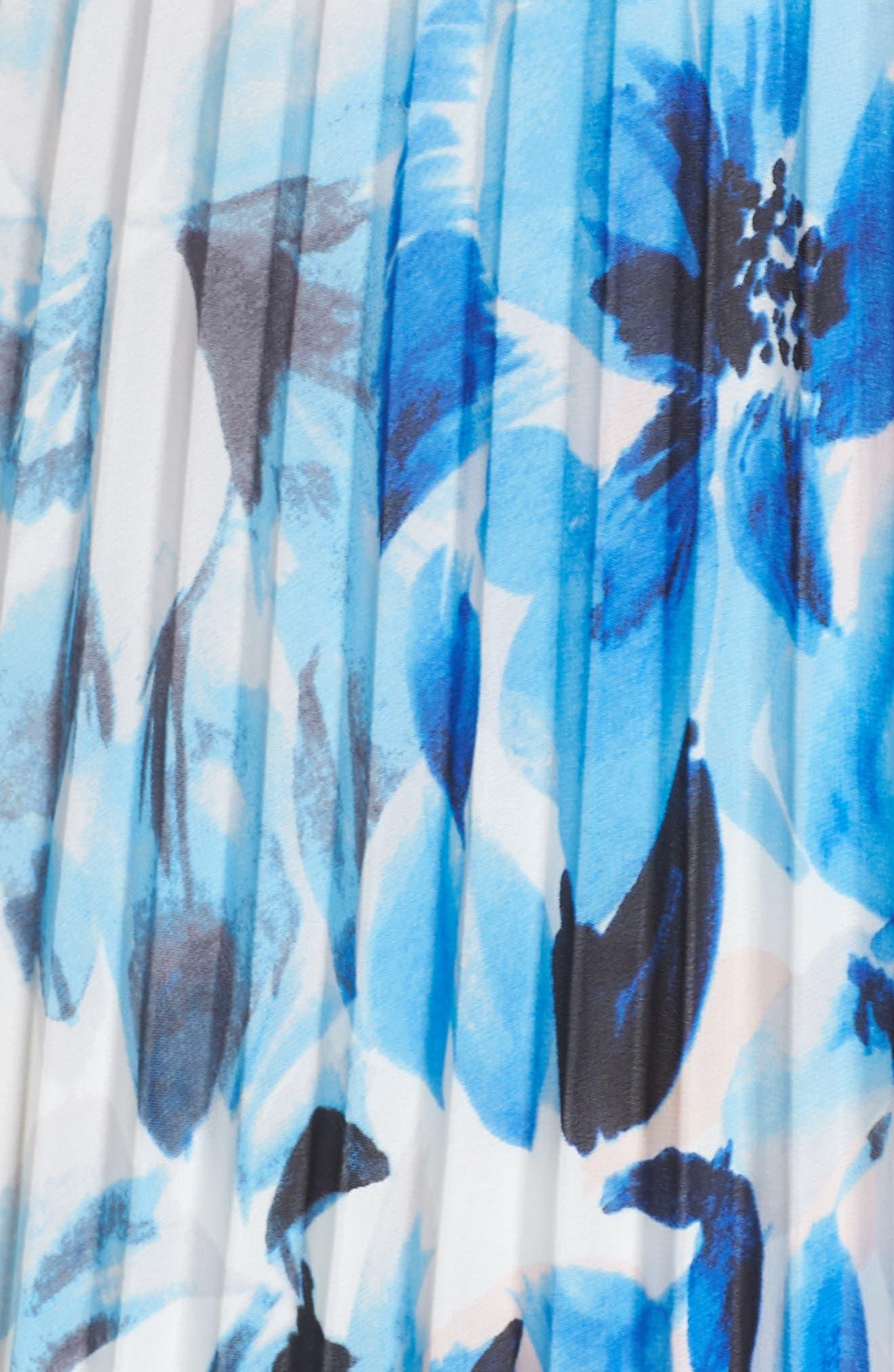 Ruffle Off the Shoulder Maxi Dress,                             Alternate thumbnail 6, color,                             Blue
