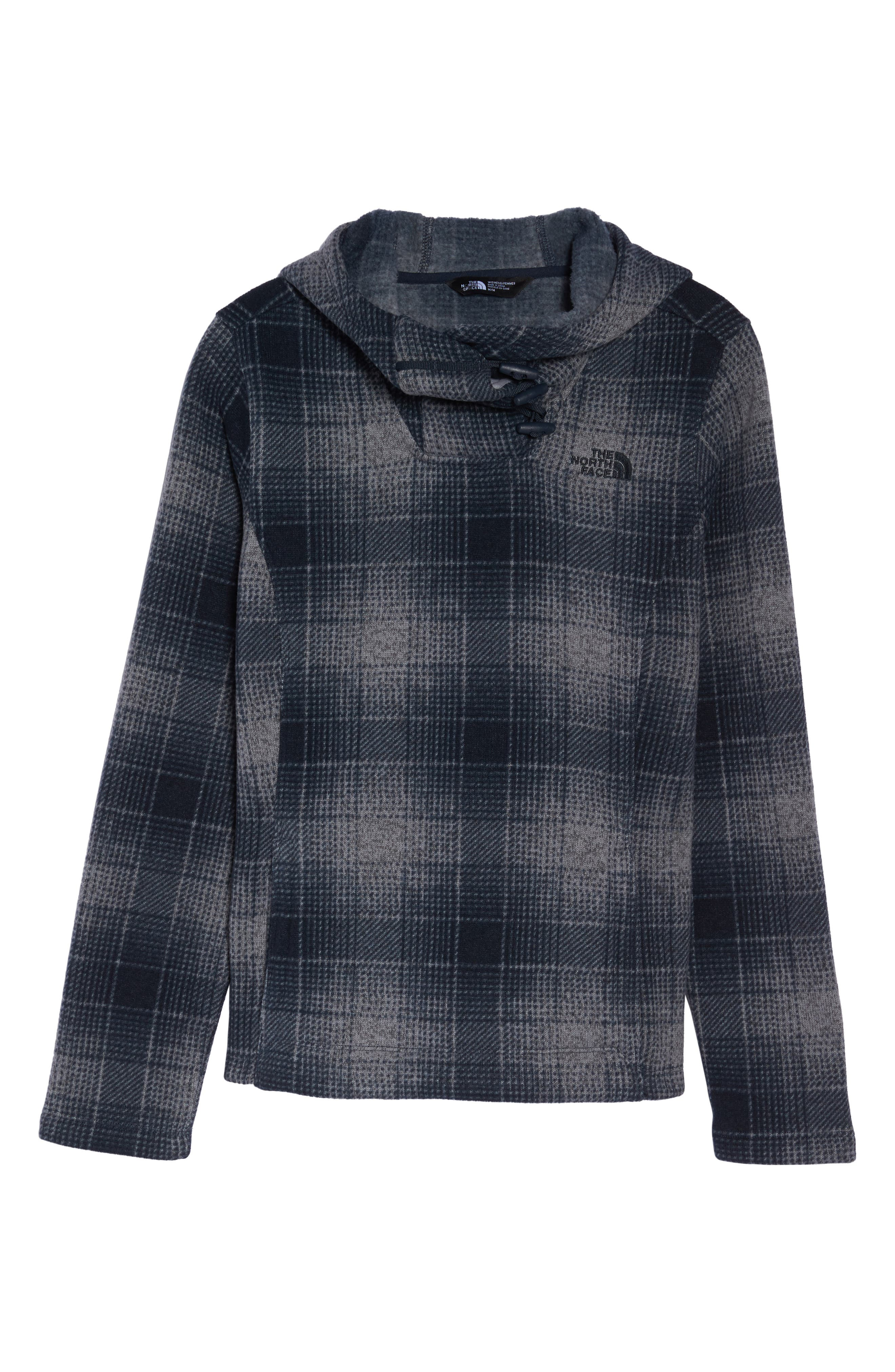 Crescent Hooded Pullover,                             Alternate thumbnail 4, color,                             Mid Grey Ombre Plaidsmallprint