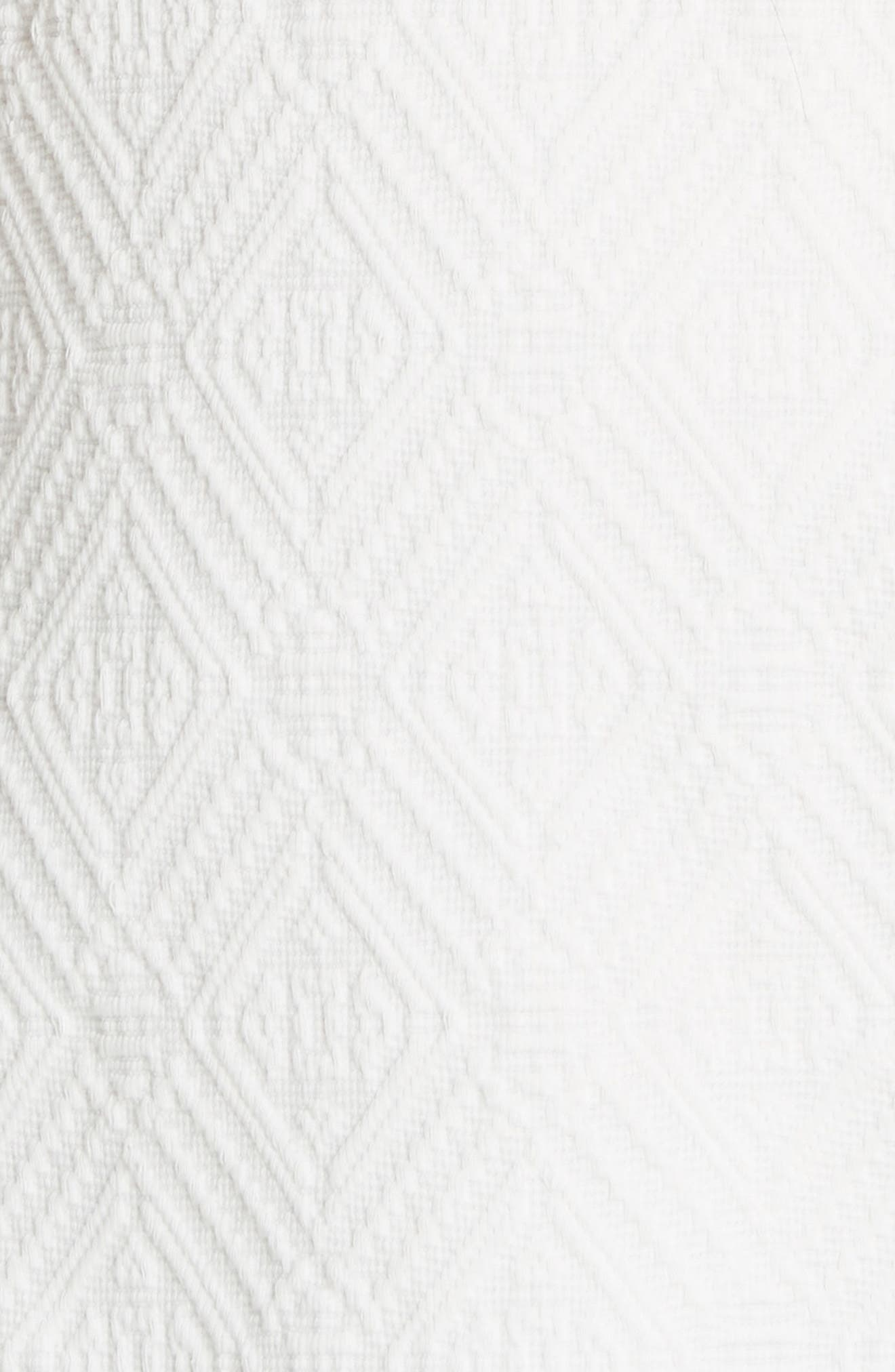 Bailey Scallop Cotton Dress,                             Alternate thumbnail 5, color,                             White
