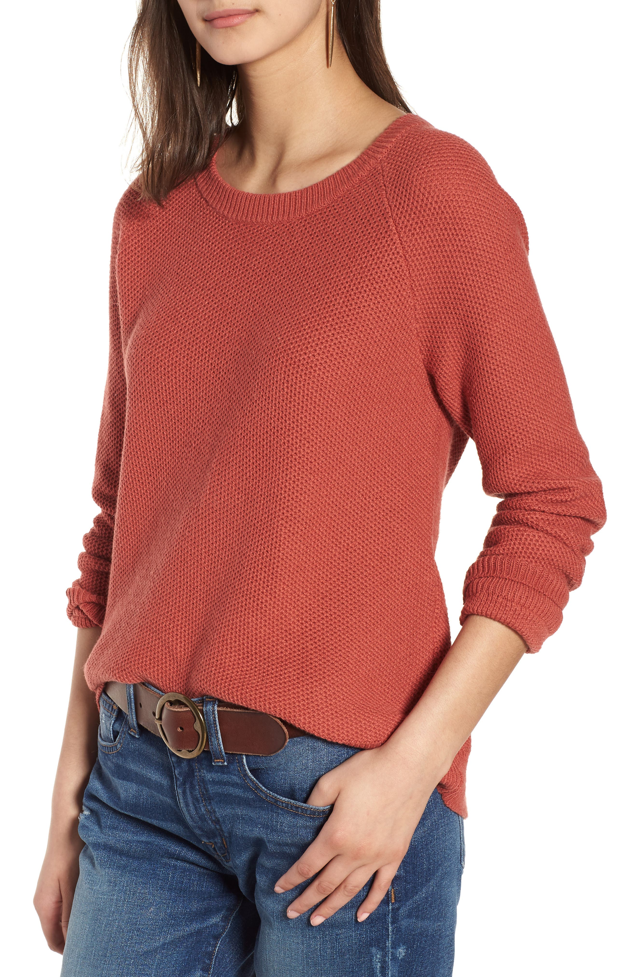 Province Cross Back Knit Pullover,                         Main,                         color, Spiced Rose