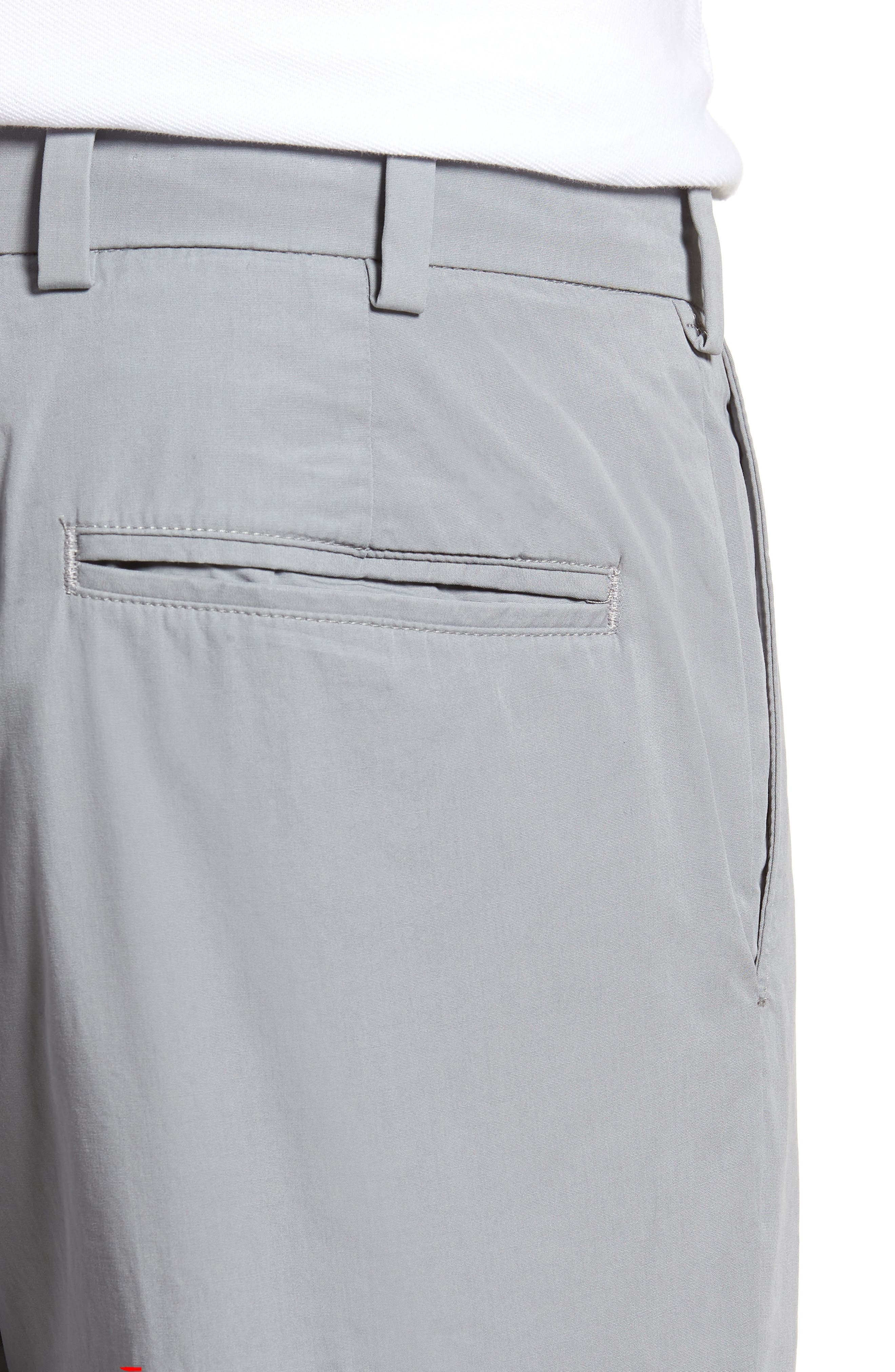 M3 Straight Fit Flat Front Tropical Poplin Pants,                             Alternate thumbnail 4, color,                             Nickel