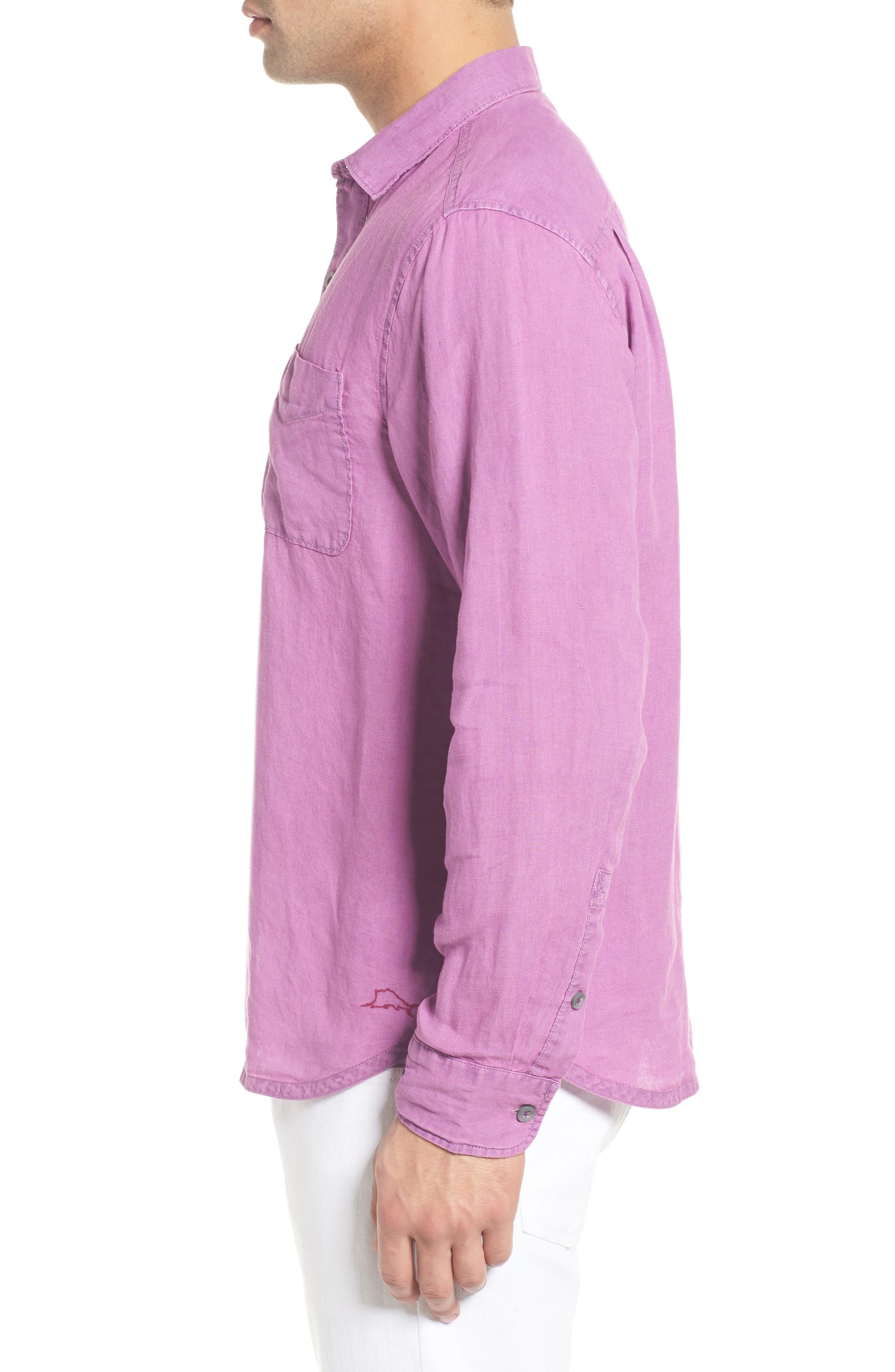 Alternate Image 4  - Tommy Bahama Seaspray Breezer Standard Fit Linen Sport Shirt
