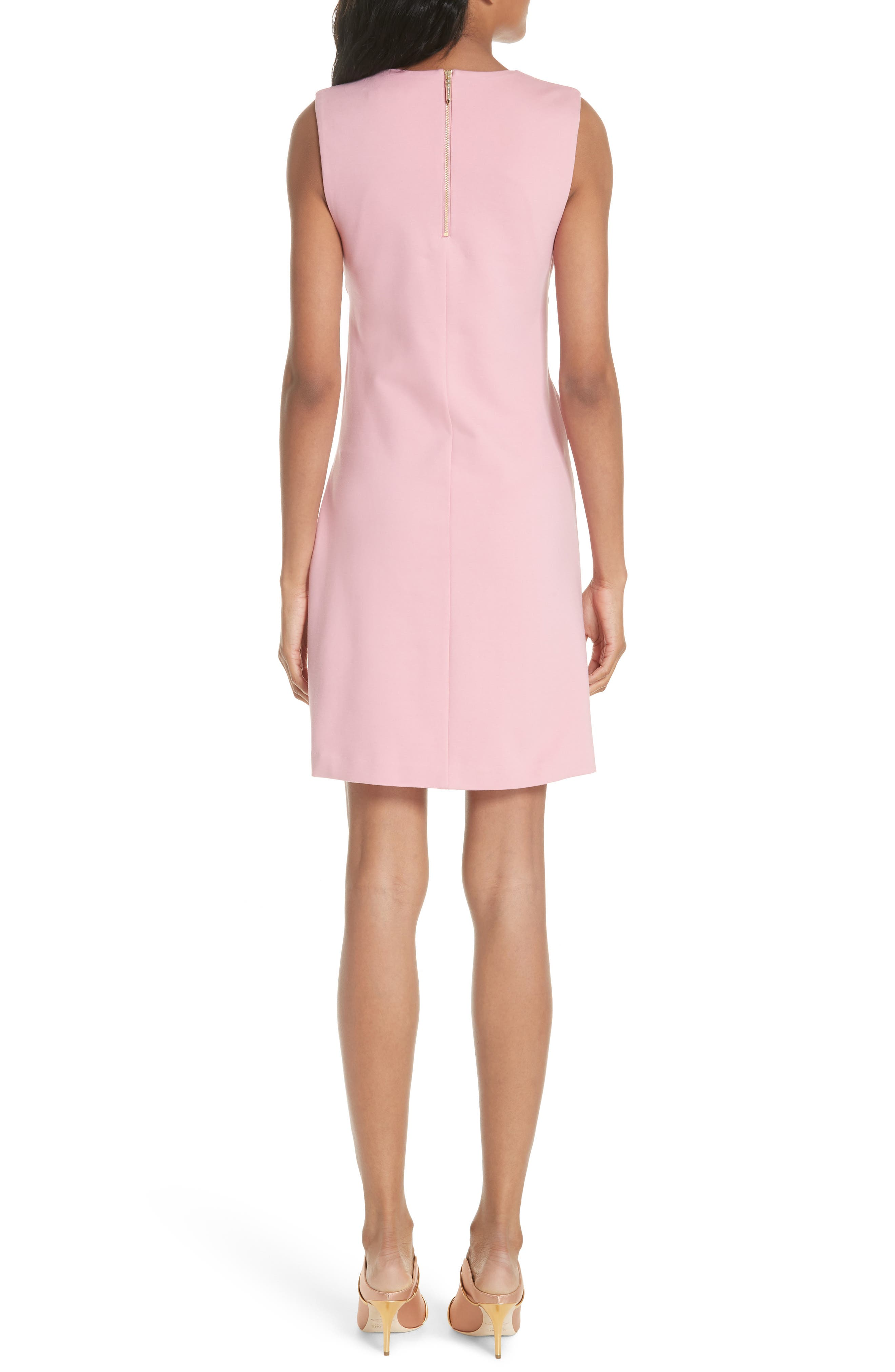 Papron Tie Front Dress,                             Alternate thumbnail 2, color,                             Pink