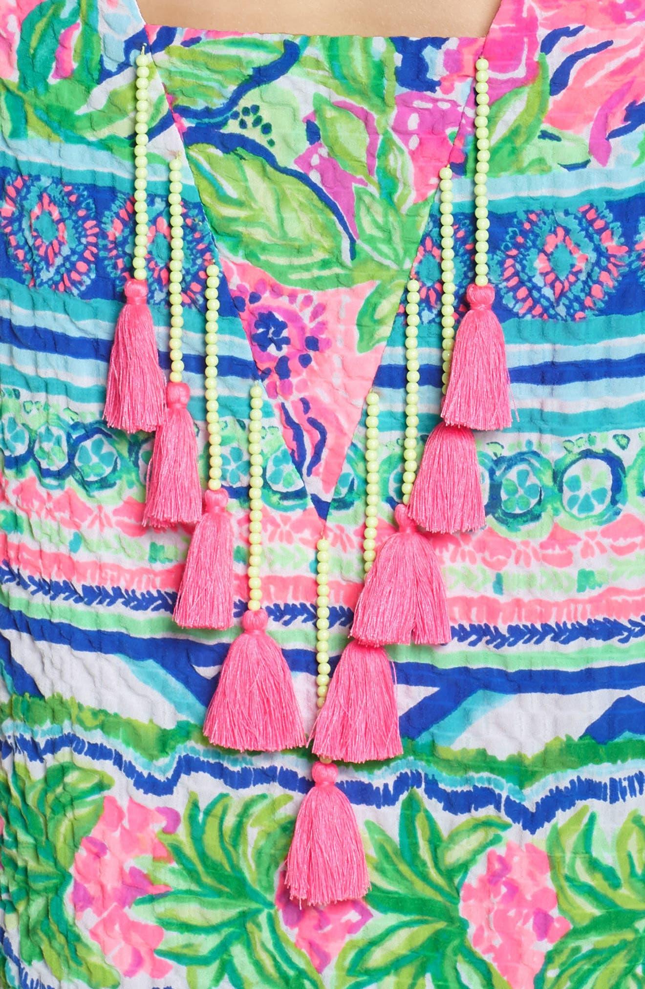 Lilly Pulitzer Gabriella Dress,                             Alternate thumbnail 4, color,                             Multi Daquiri Shack