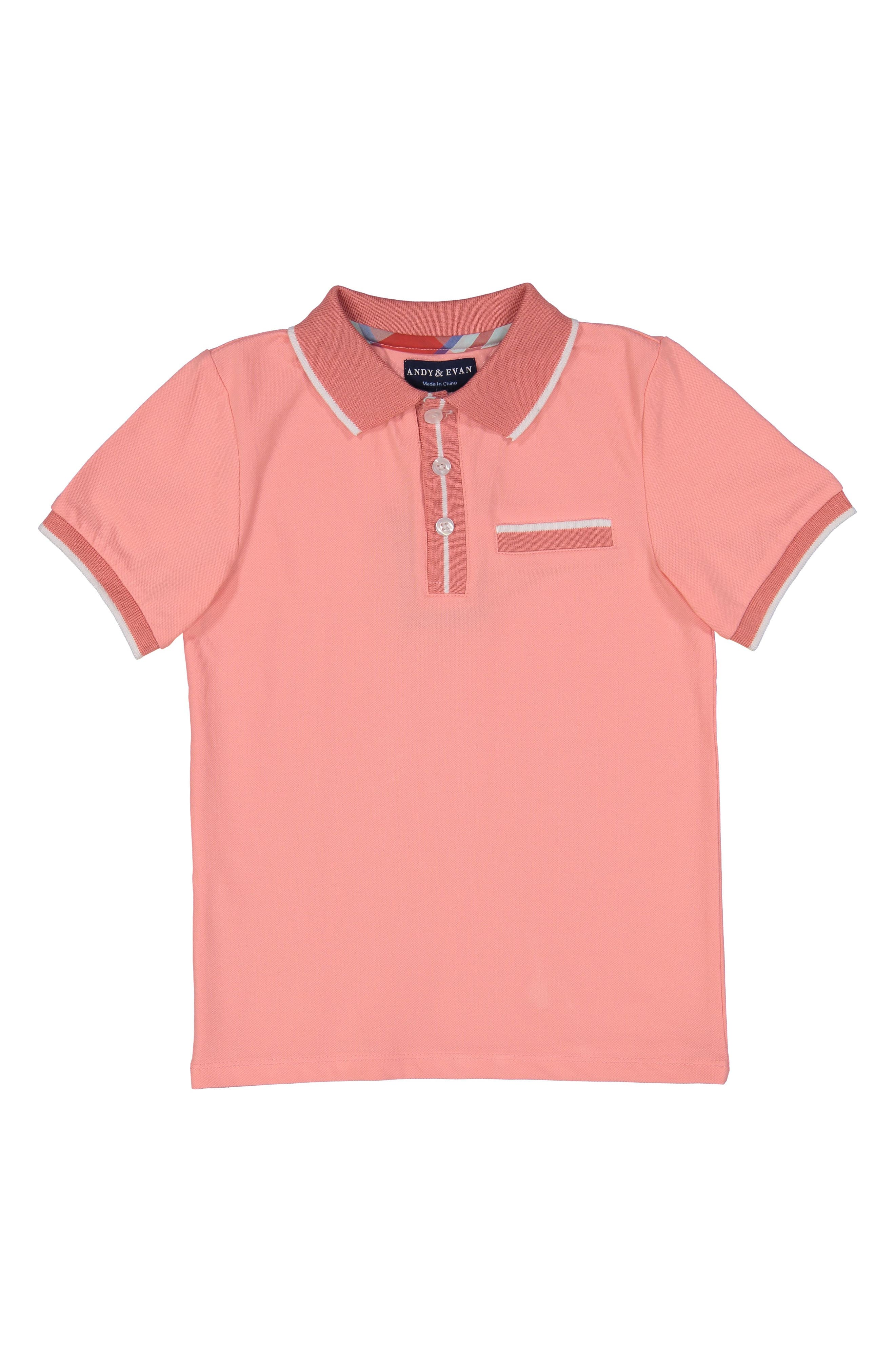 Coral Polo,                             Main thumbnail 1, color,                             Red