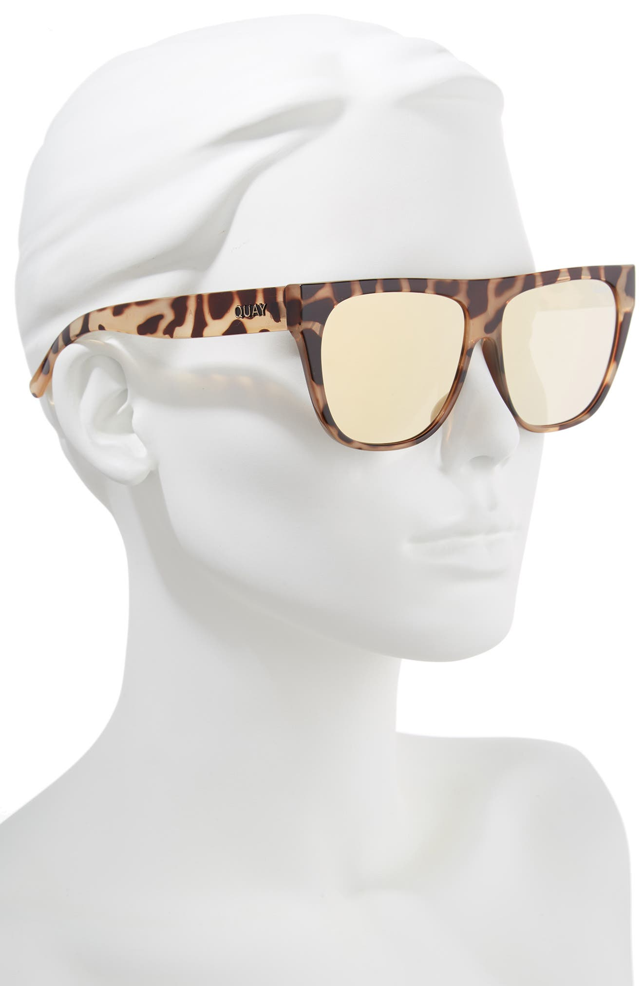 x Tony Bianco Drama by Day 55mm Square Sunglasses,                             Alternate thumbnail 2, color,                             Tort/ Gold