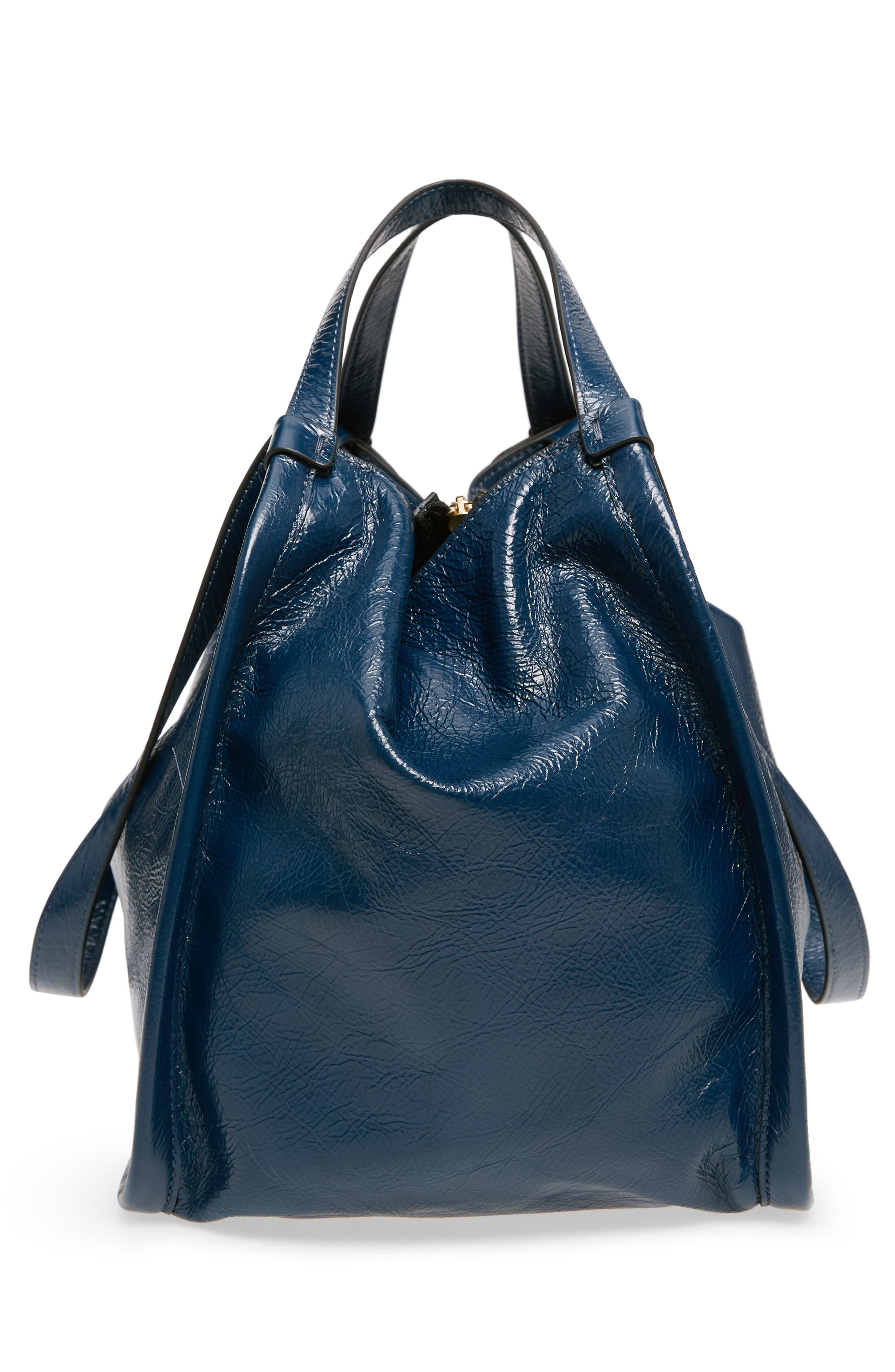 Leather Sport Tote,                             Alternate thumbnail 2, color,                             Island Blue