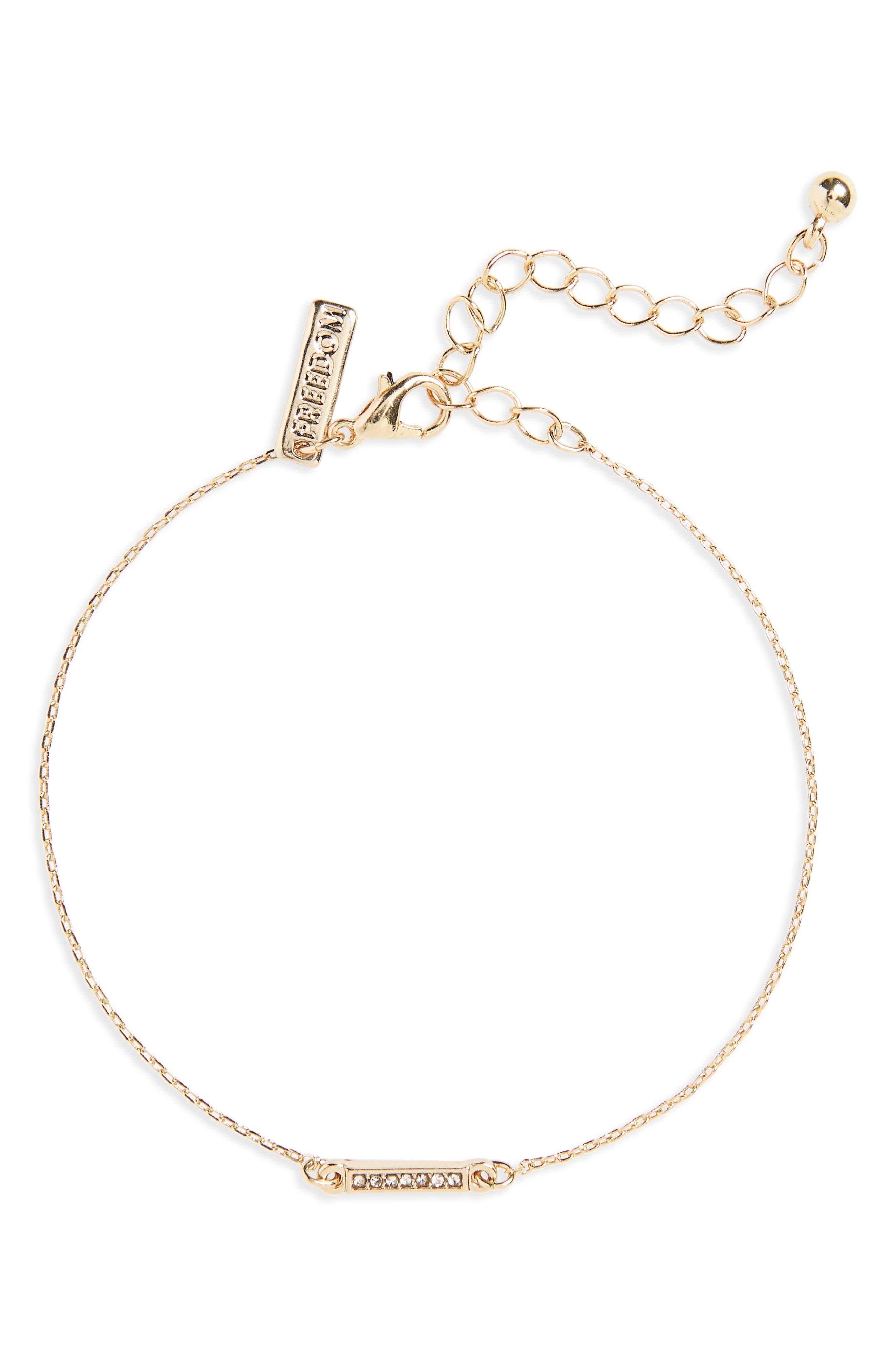 Alternate Image 1 Selected - Topshop Fine Bar Bracelet