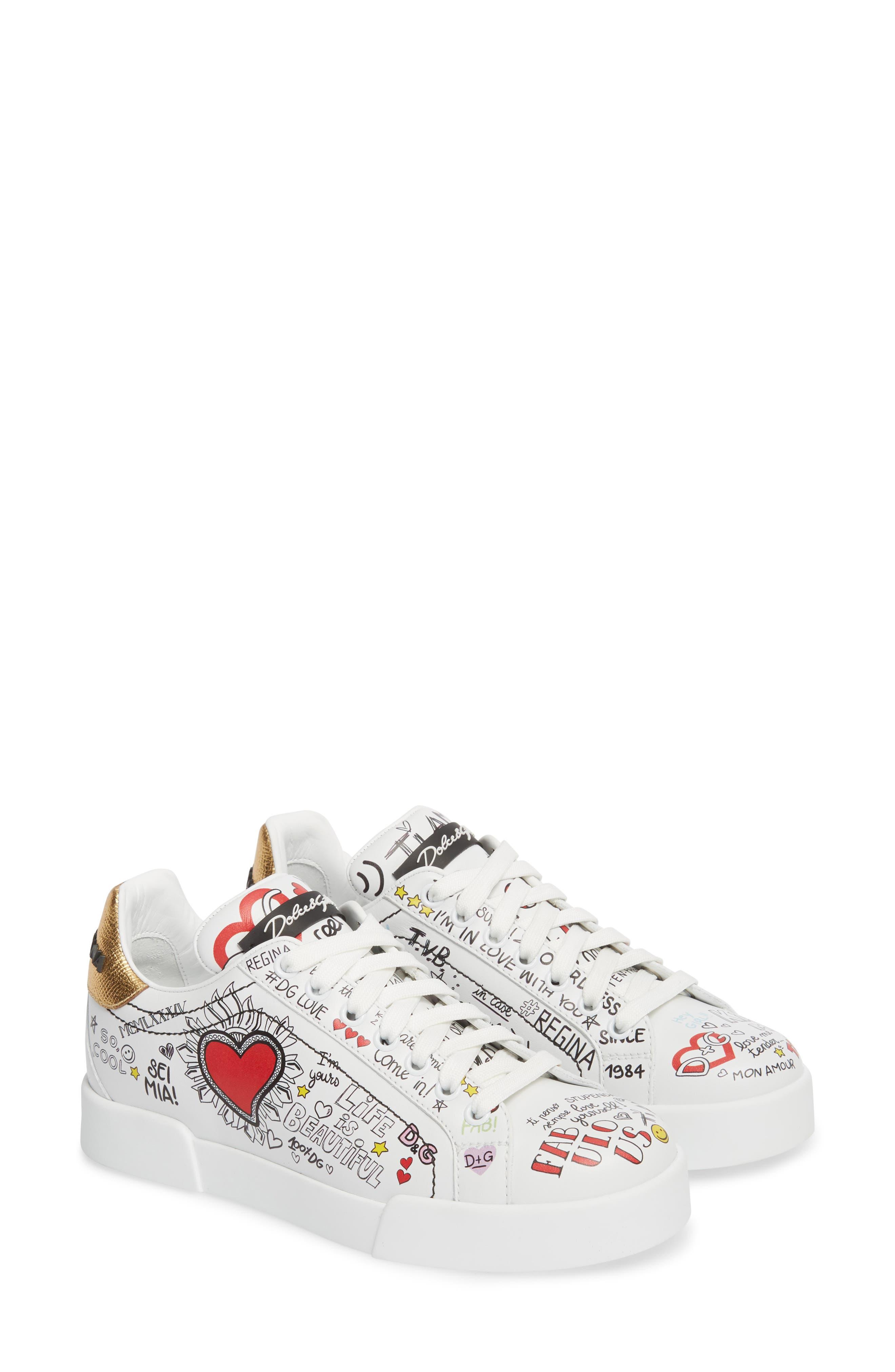 Graffiti Sneaker,                             Alternate thumbnail 2, color,                             White