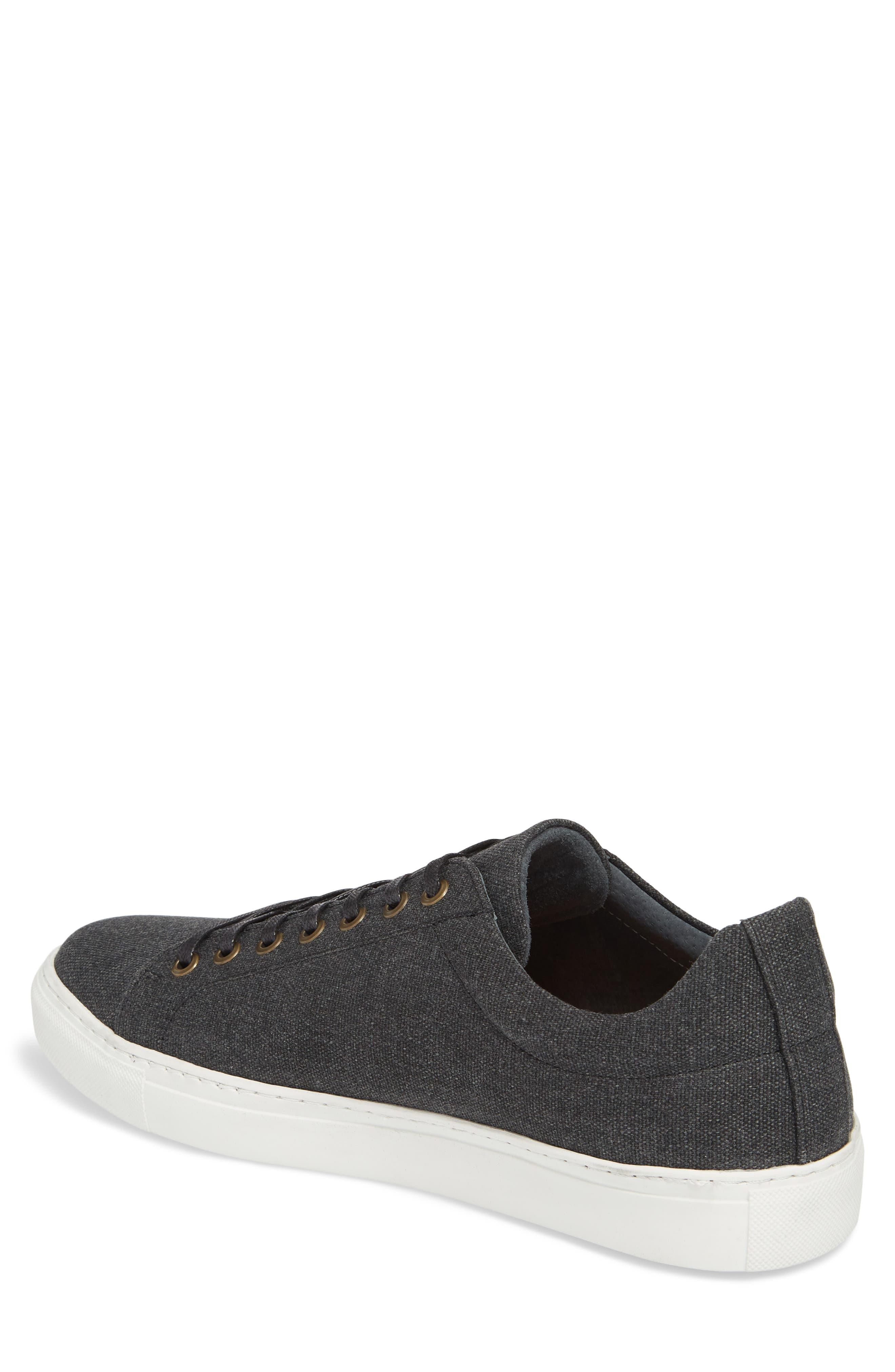 Mark Low Top Sneaker,                             Alternate thumbnail 2, color,                             Black Canvas