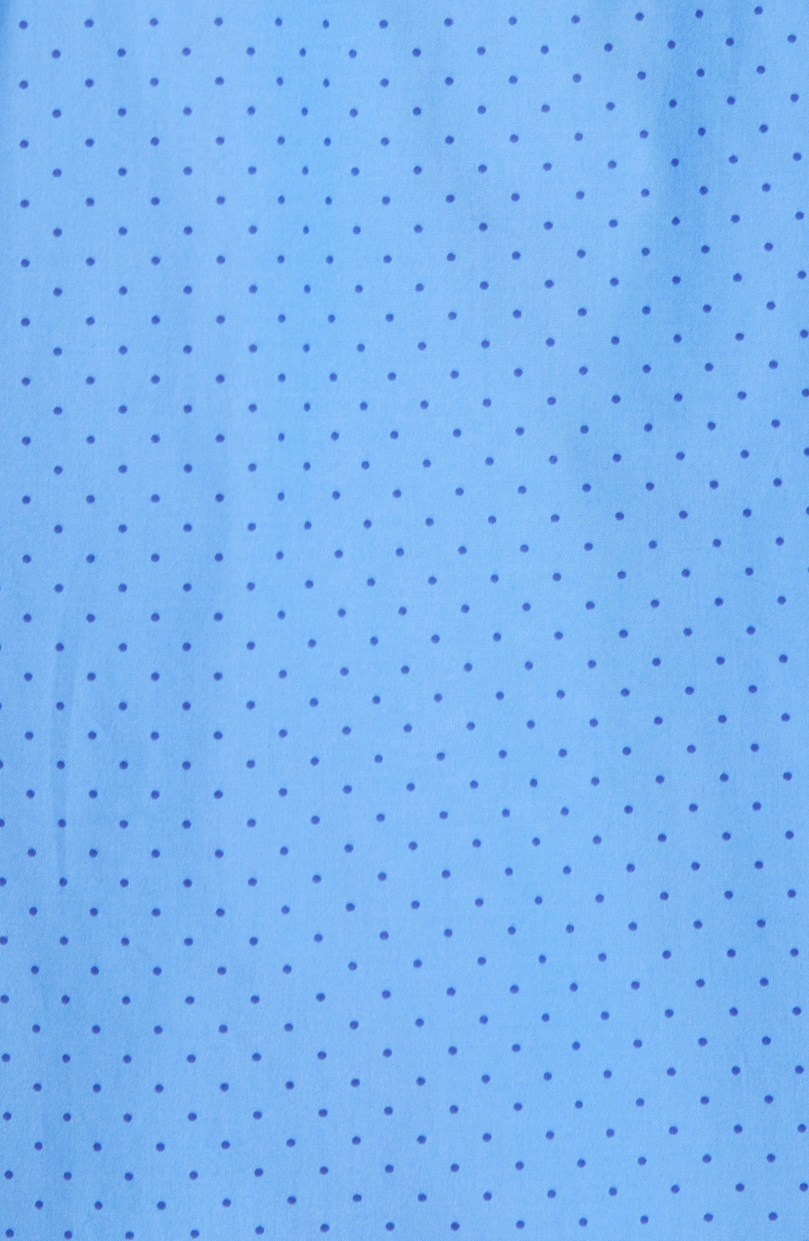 Dot Cotton Pajama Shirt,                             Alternate thumbnail 5, color,                             Harbour Island Blue/ Navy
