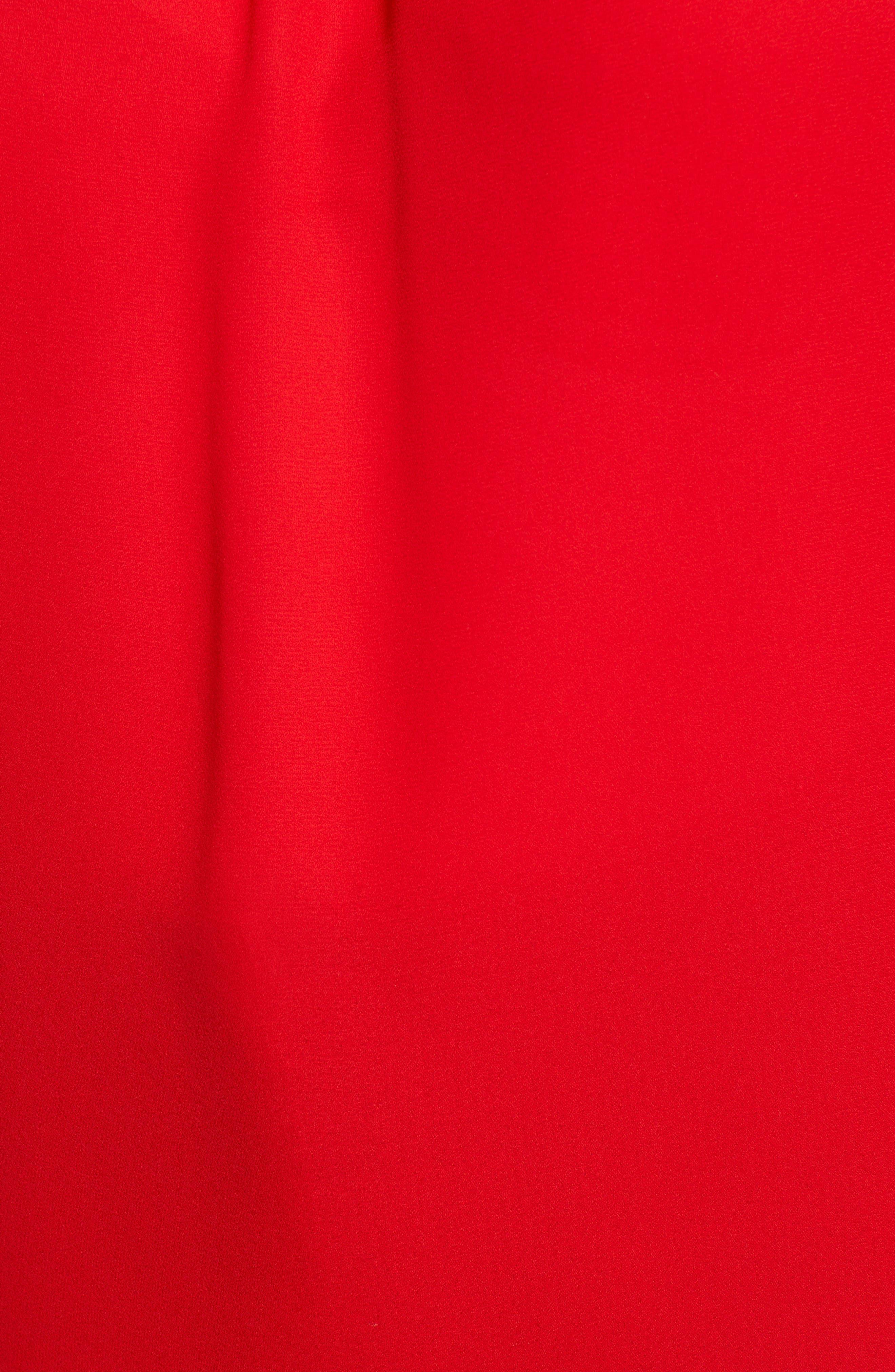 Smocked Neck Blouse,                             Alternate thumbnail 6, color,                             Radiant Red
