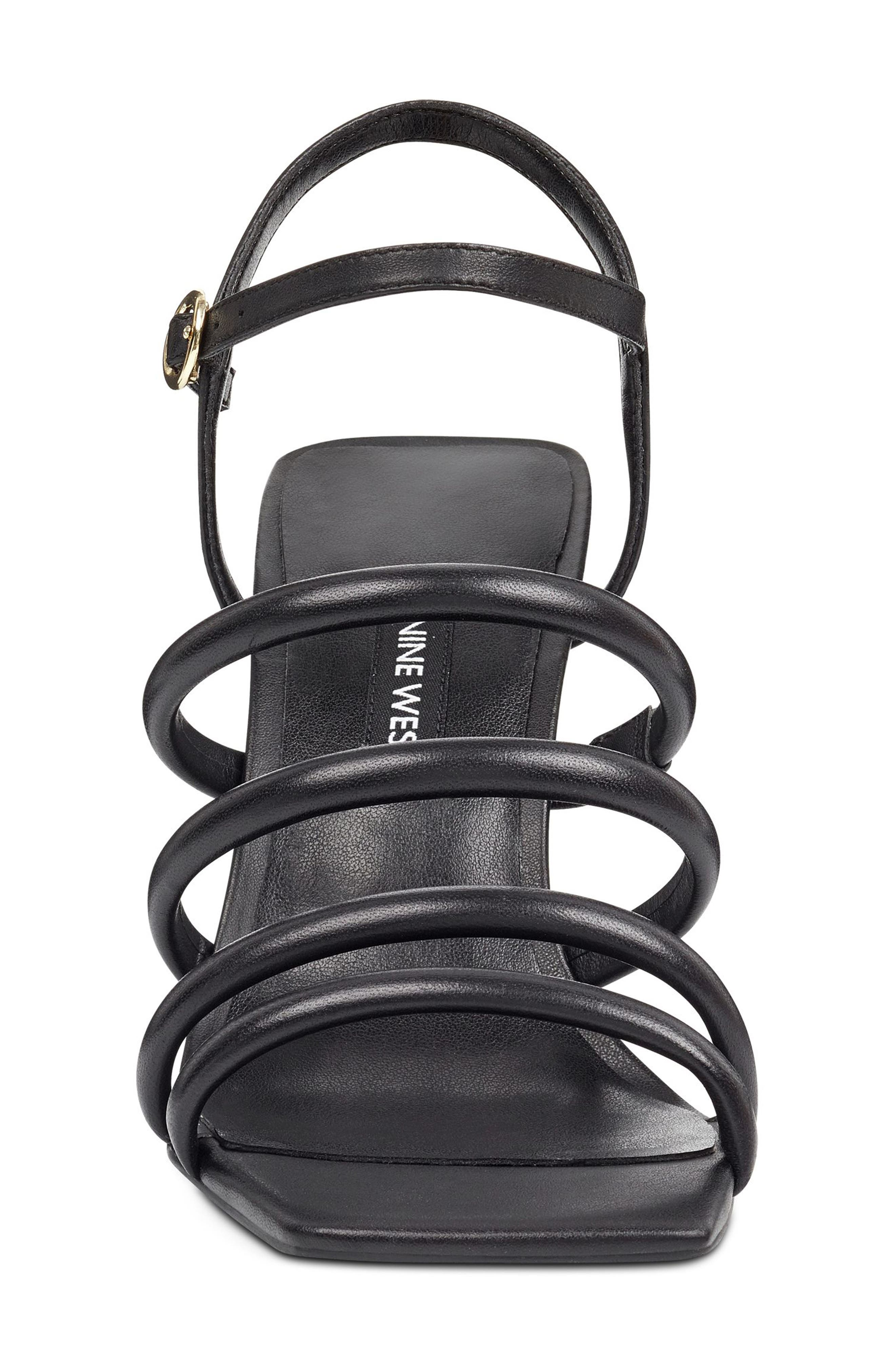 Laxian Cage Sandal,                             Alternate thumbnail 3, color,                             Black Leather