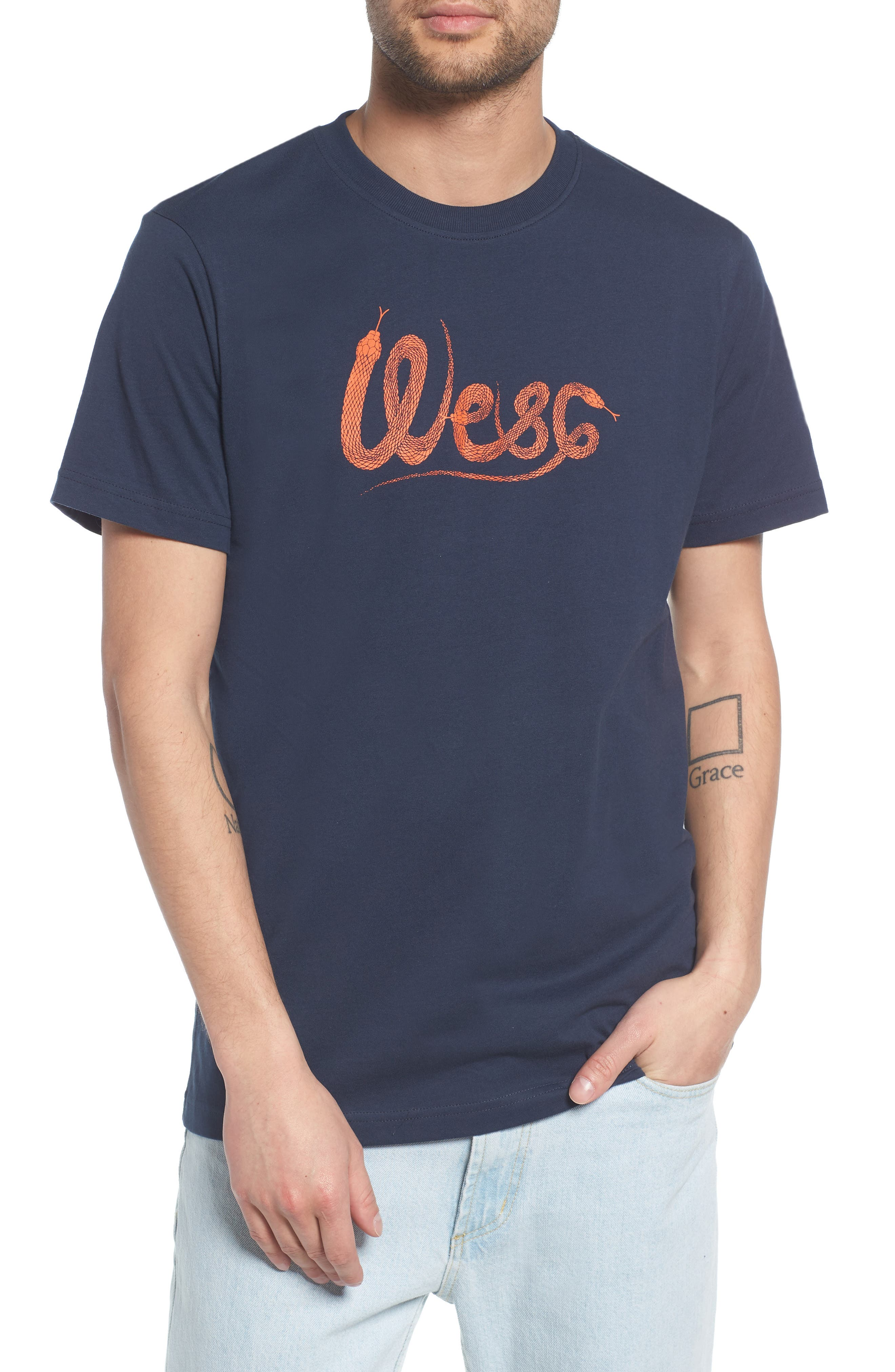 WeSC Max Snake Graphic T-Shirt