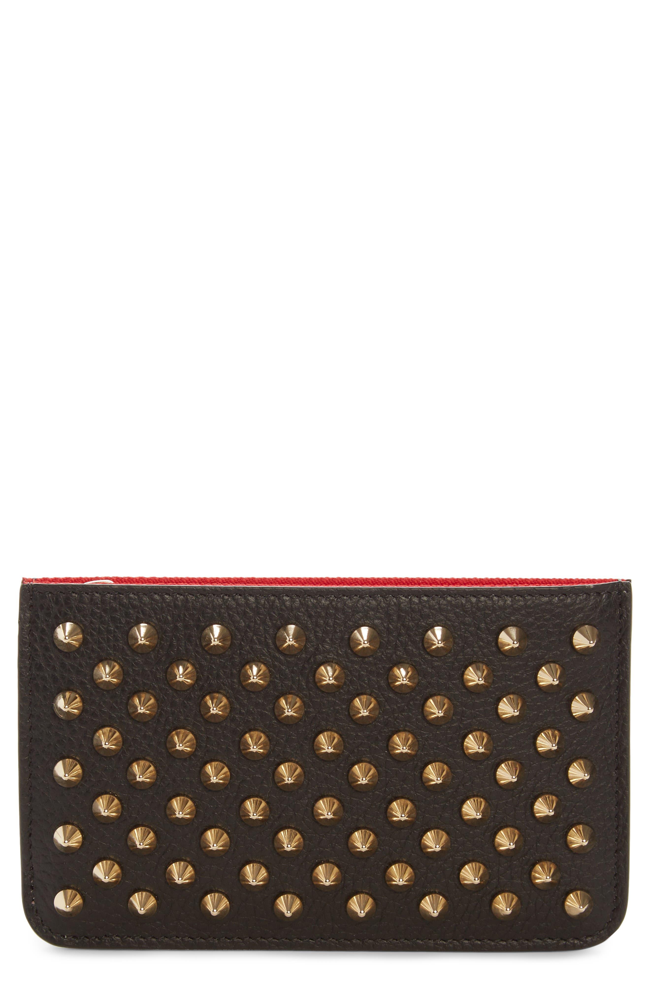 Alternate Image 1 Selected - Christian Louboutin Panettone Studded Leather Key Case