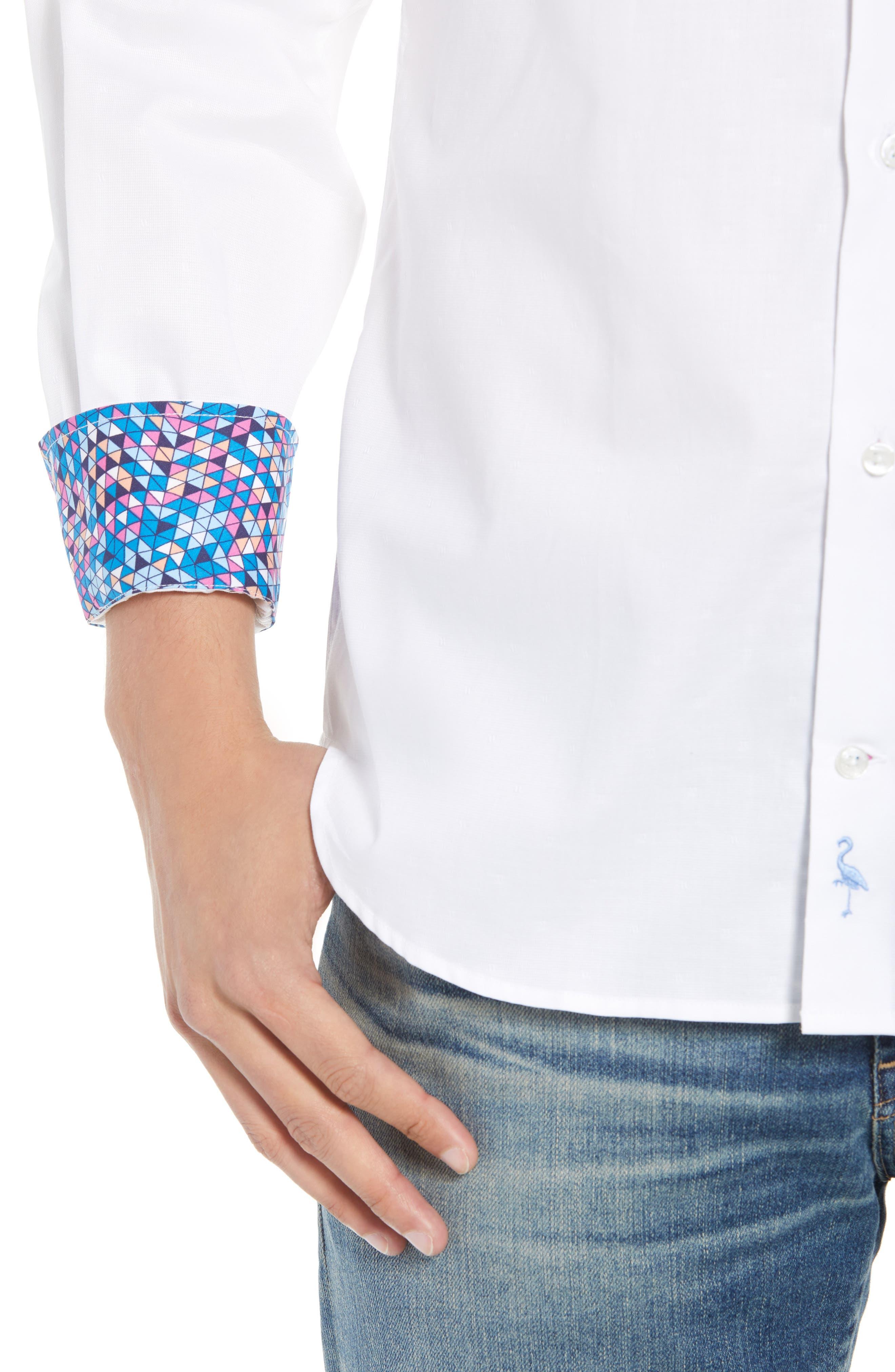 Baxley Regular Fit Sport Shirt,                             Alternate thumbnail 2, color,                             White