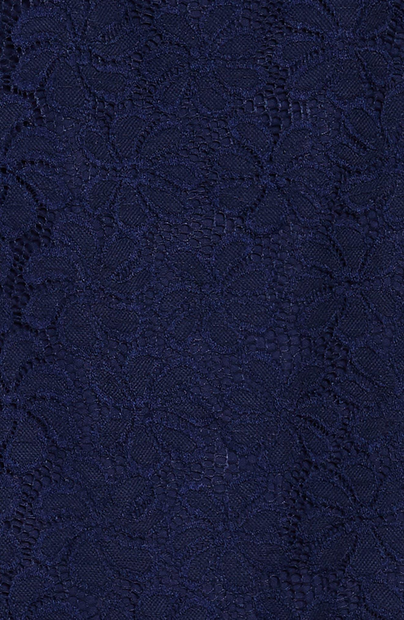 Betty Racerback Lace Dress,                             Alternate thumbnail 3, color,                             Navy