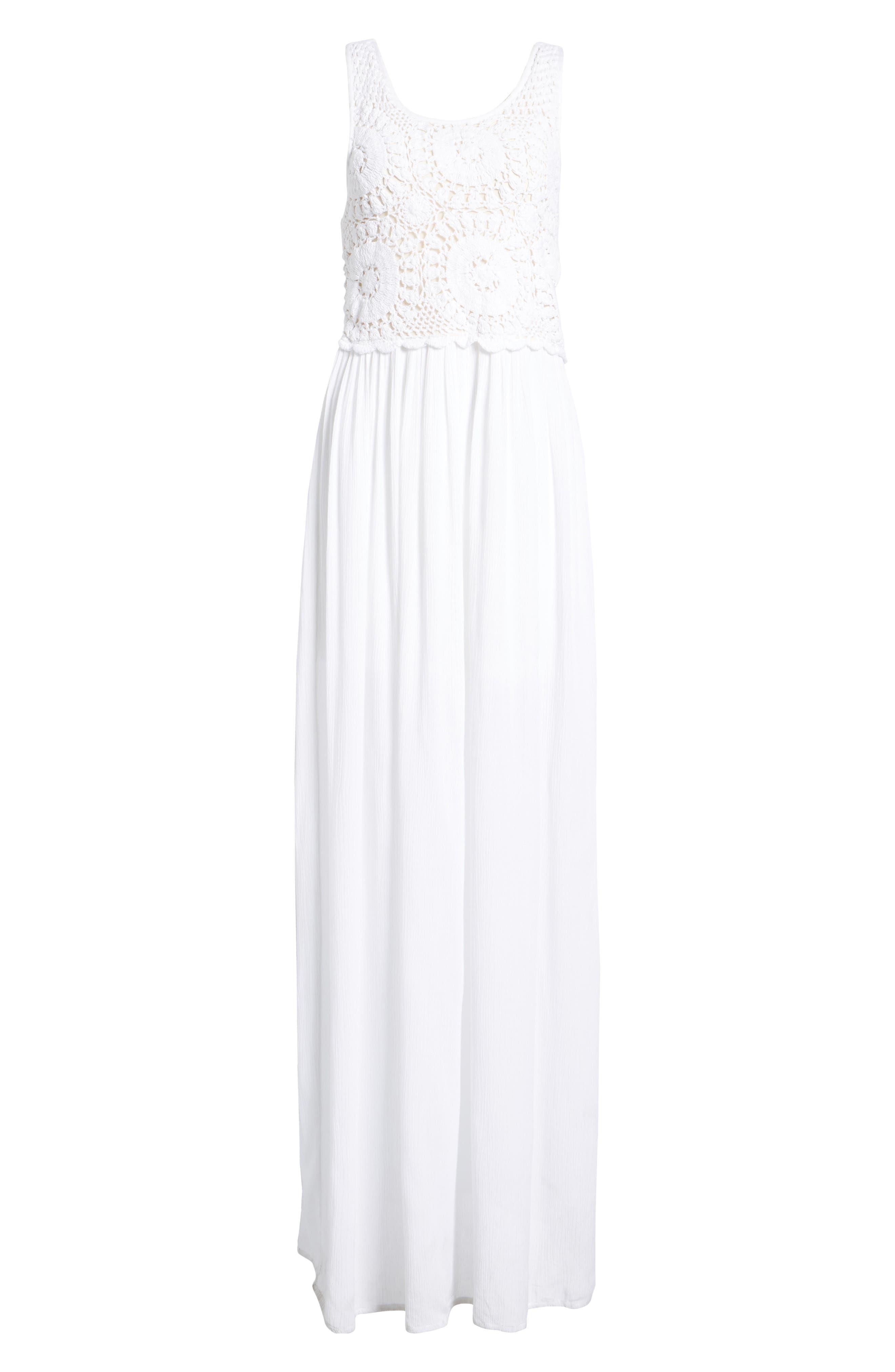 Bishop + Young Bora Bora Maxi Dress,                             Alternate thumbnail 7, color,                             White