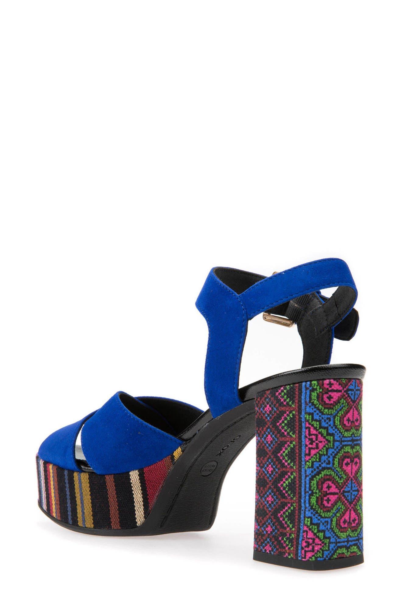 Galene 3 Platform Sandal,                             Alternate thumbnail 2, color,                             Royal Suede
