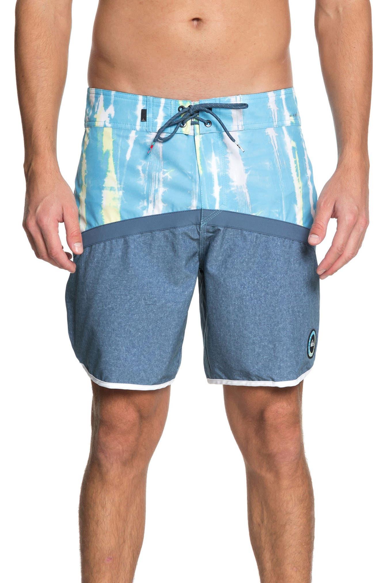 Highline Fortune Board Shorts,                             Main thumbnail 1, color,                             Cyan Blue