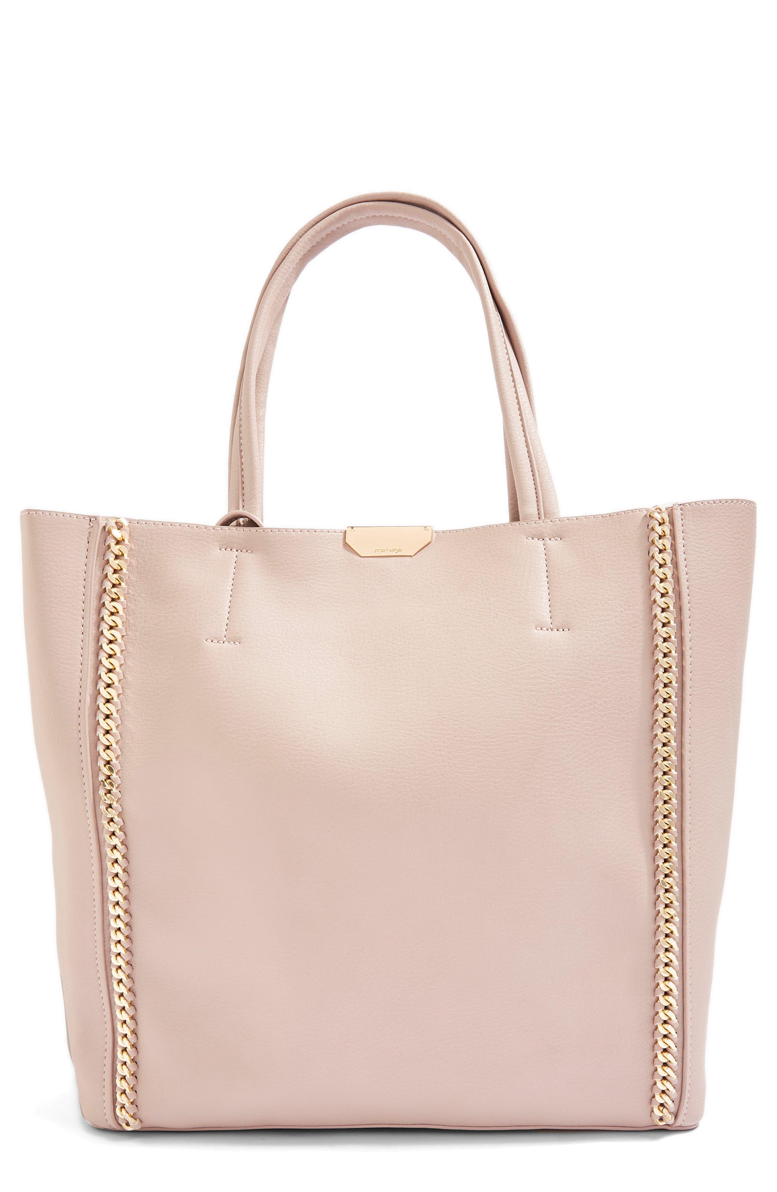 Sade Chain Shopper Bag,                             Main thumbnail 1, color,                             Nude Multi