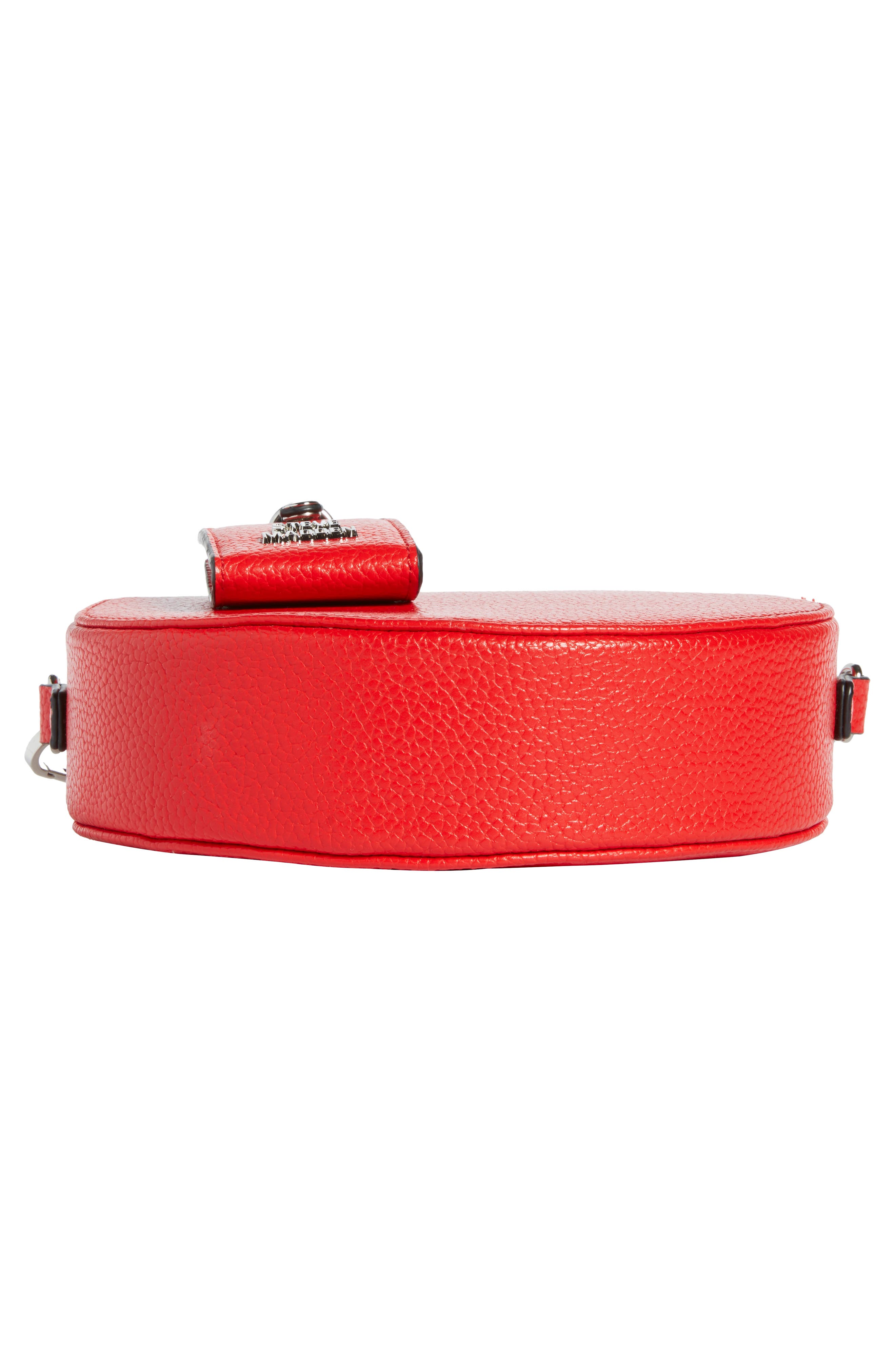 Pebbled Faux Leather Canteen Bag,                             Alternate thumbnail 6, color,                             Red