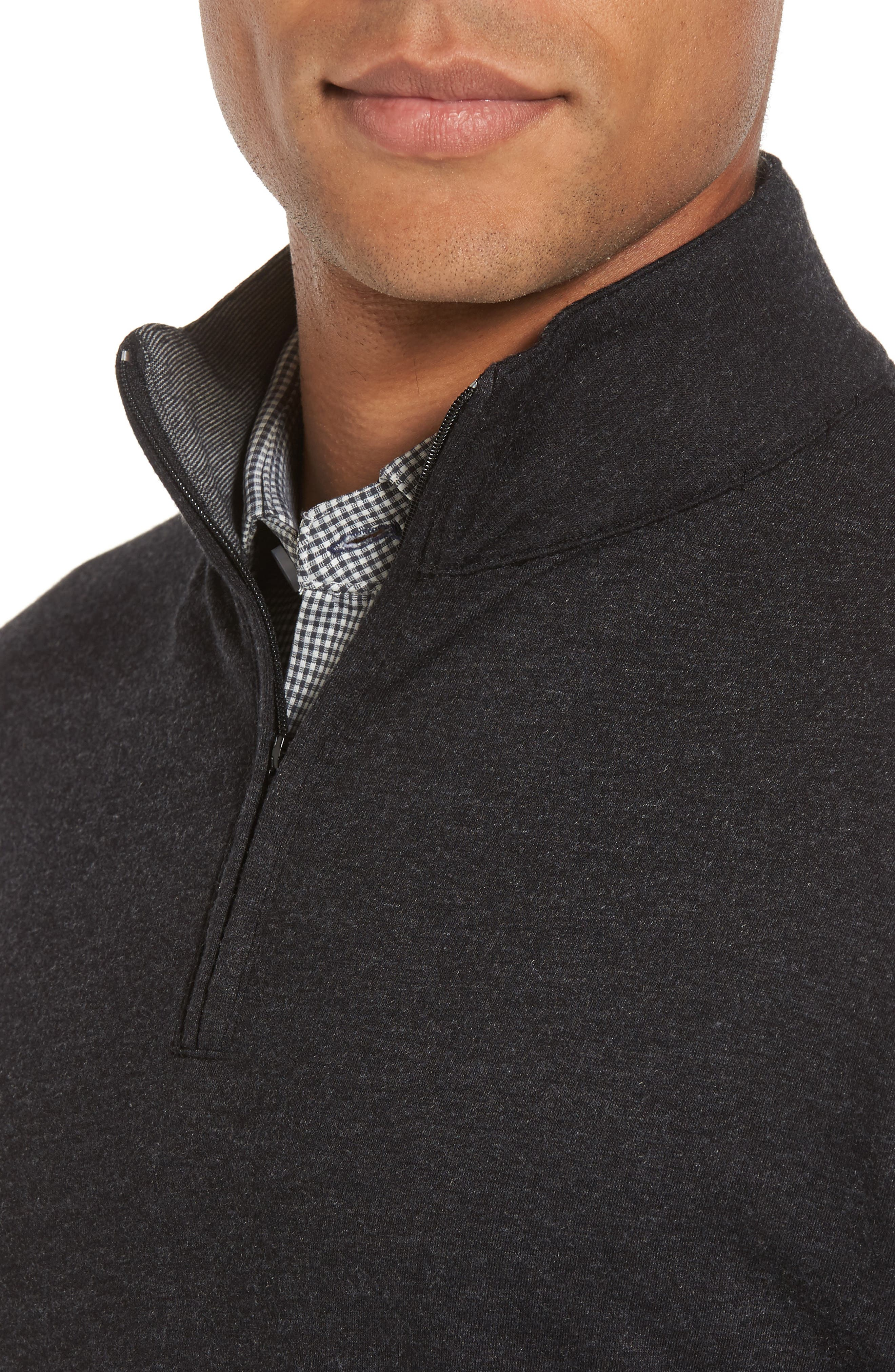 North Mock Neck Pullover,                             Alternate thumbnail 4, color,                             North Grey