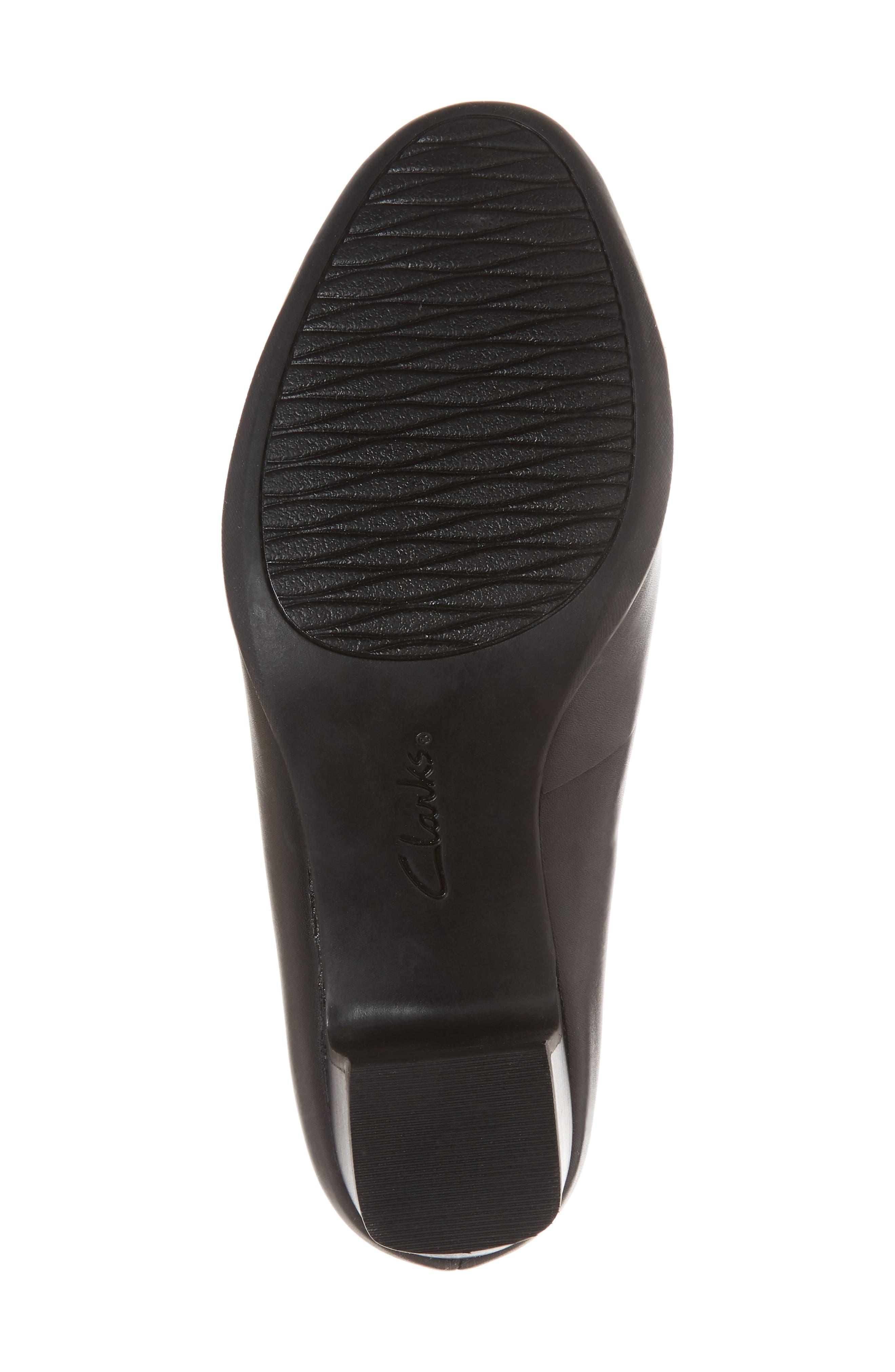 Rosalyn Olivia Pump,                             Alternate thumbnail 6, color,                             Black Leather