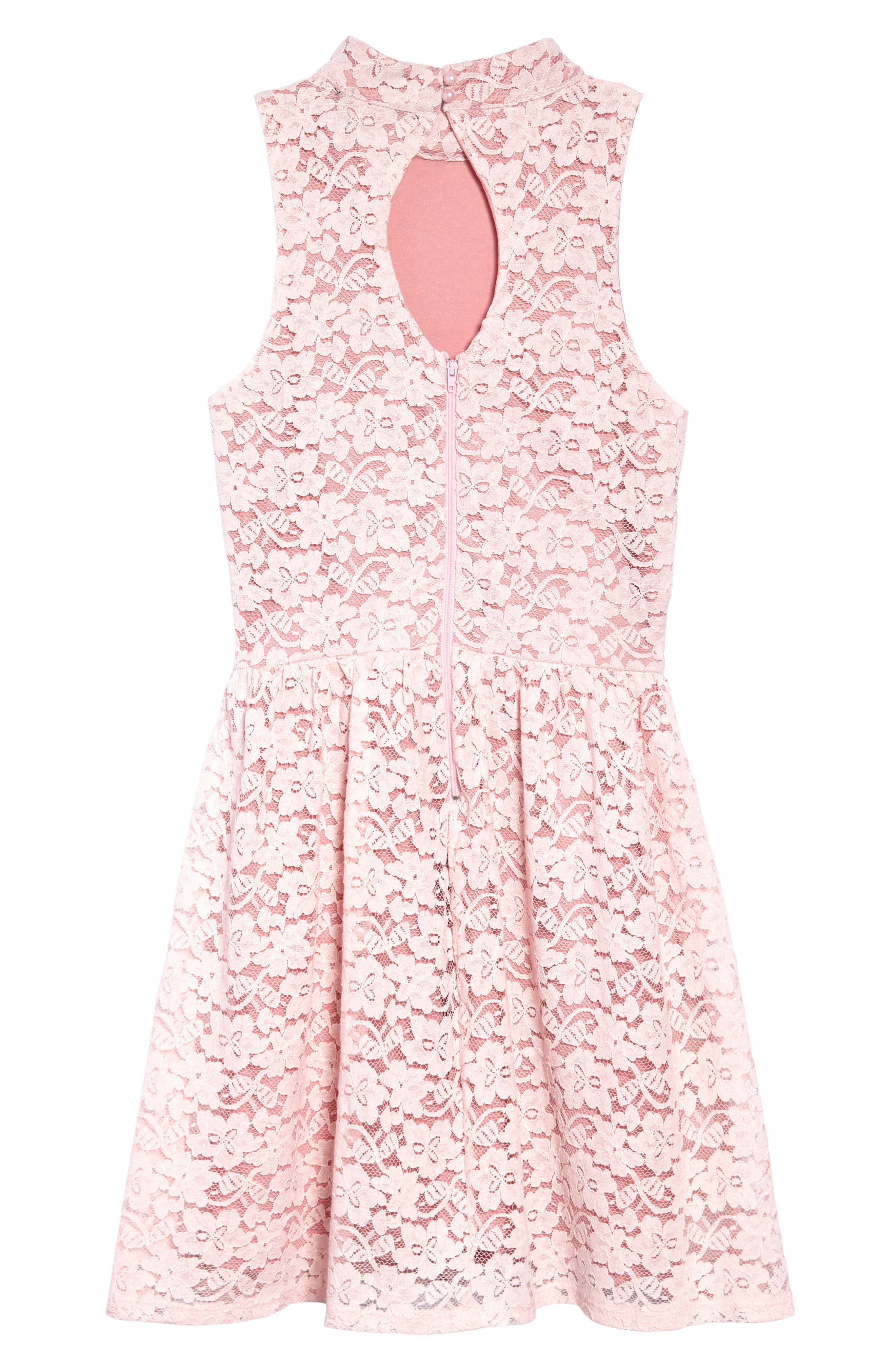 Hailee Lace Dress,                             Alternate thumbnail 2, color,                             Pink