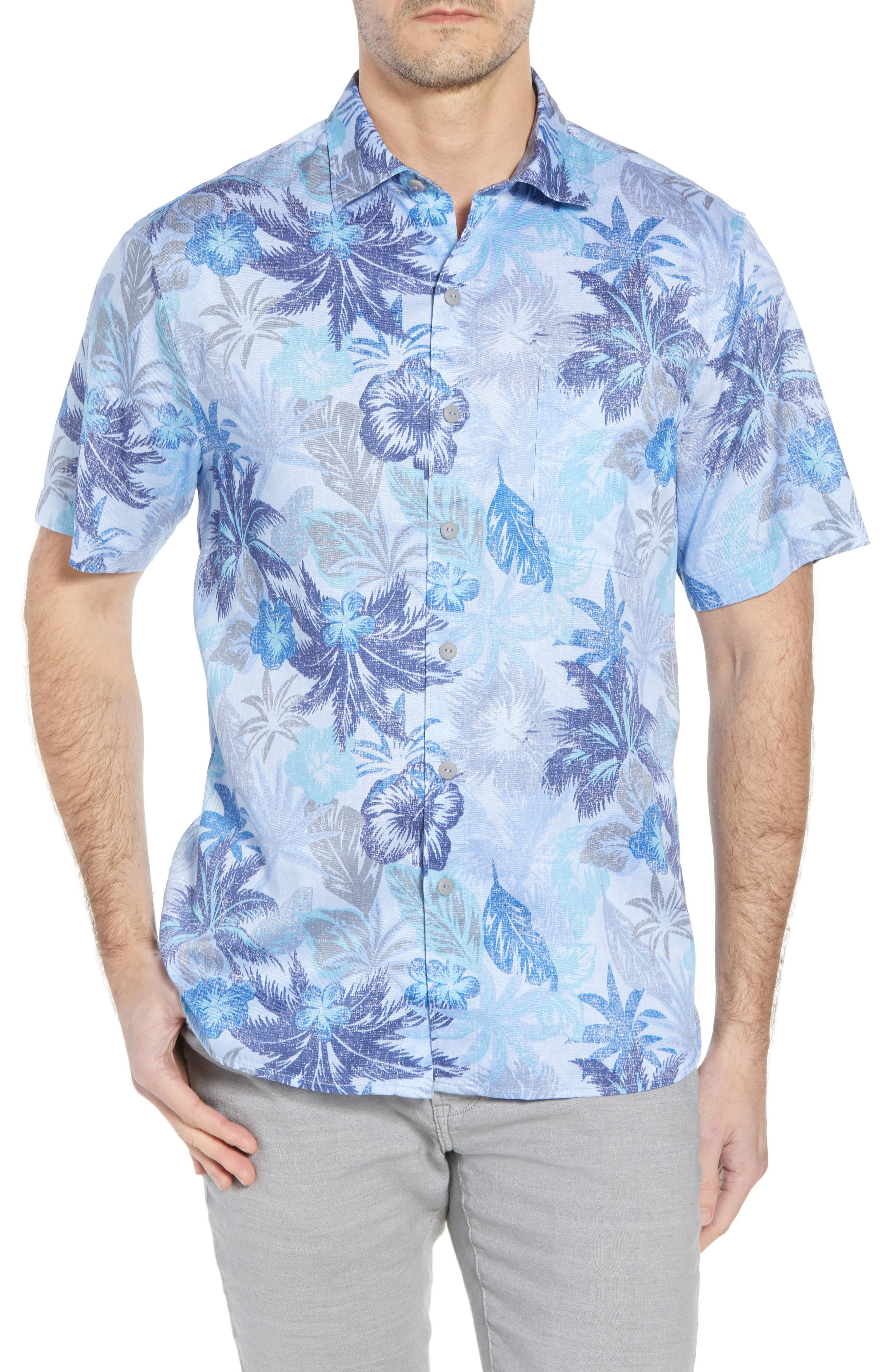 Alternate Image 1 Selected - Tommy Bahama Fuego Flora Sport Shirt