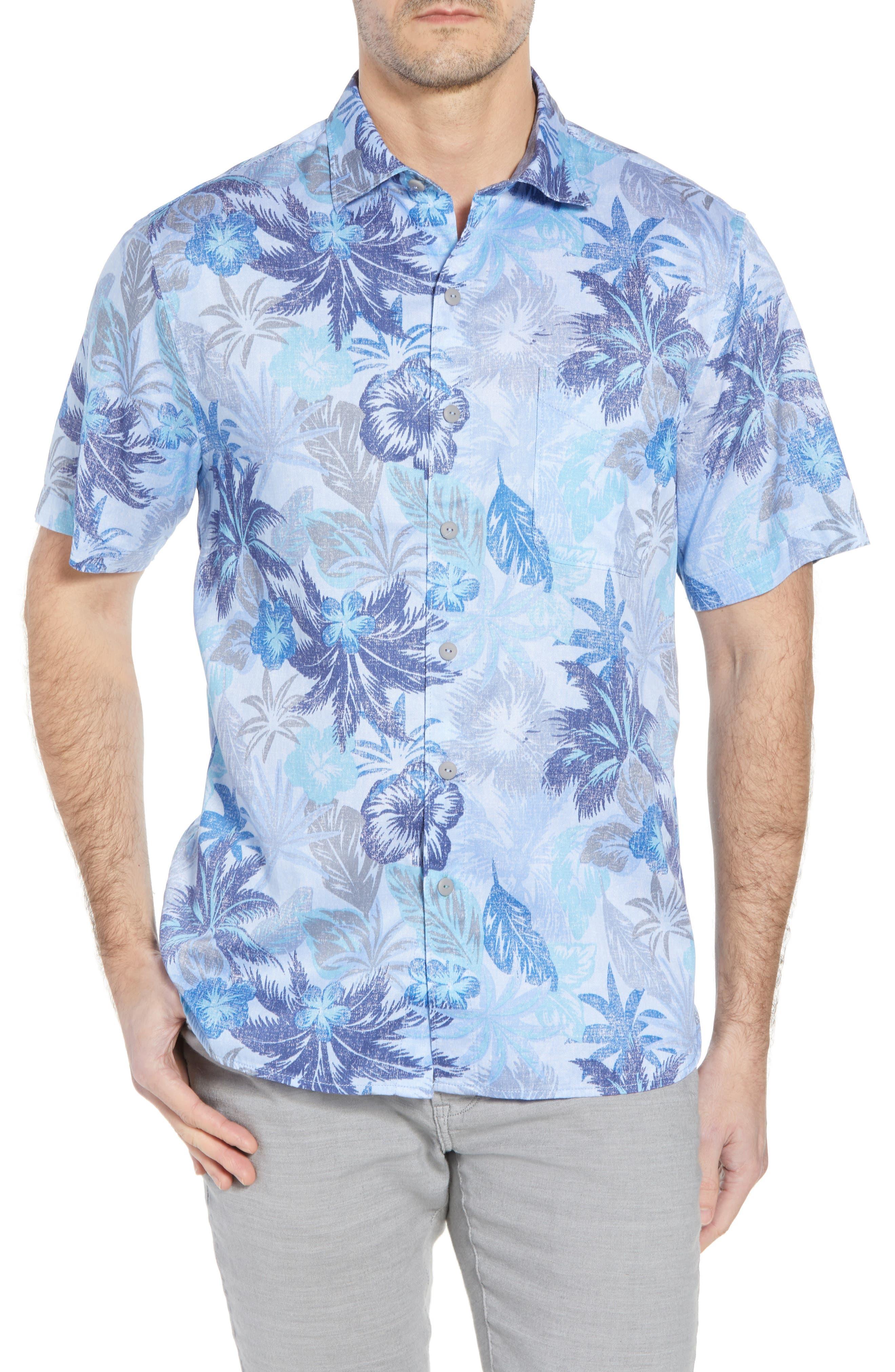 Fuego Flora Sport Shirt,                         Main,                         color, Blue Isles