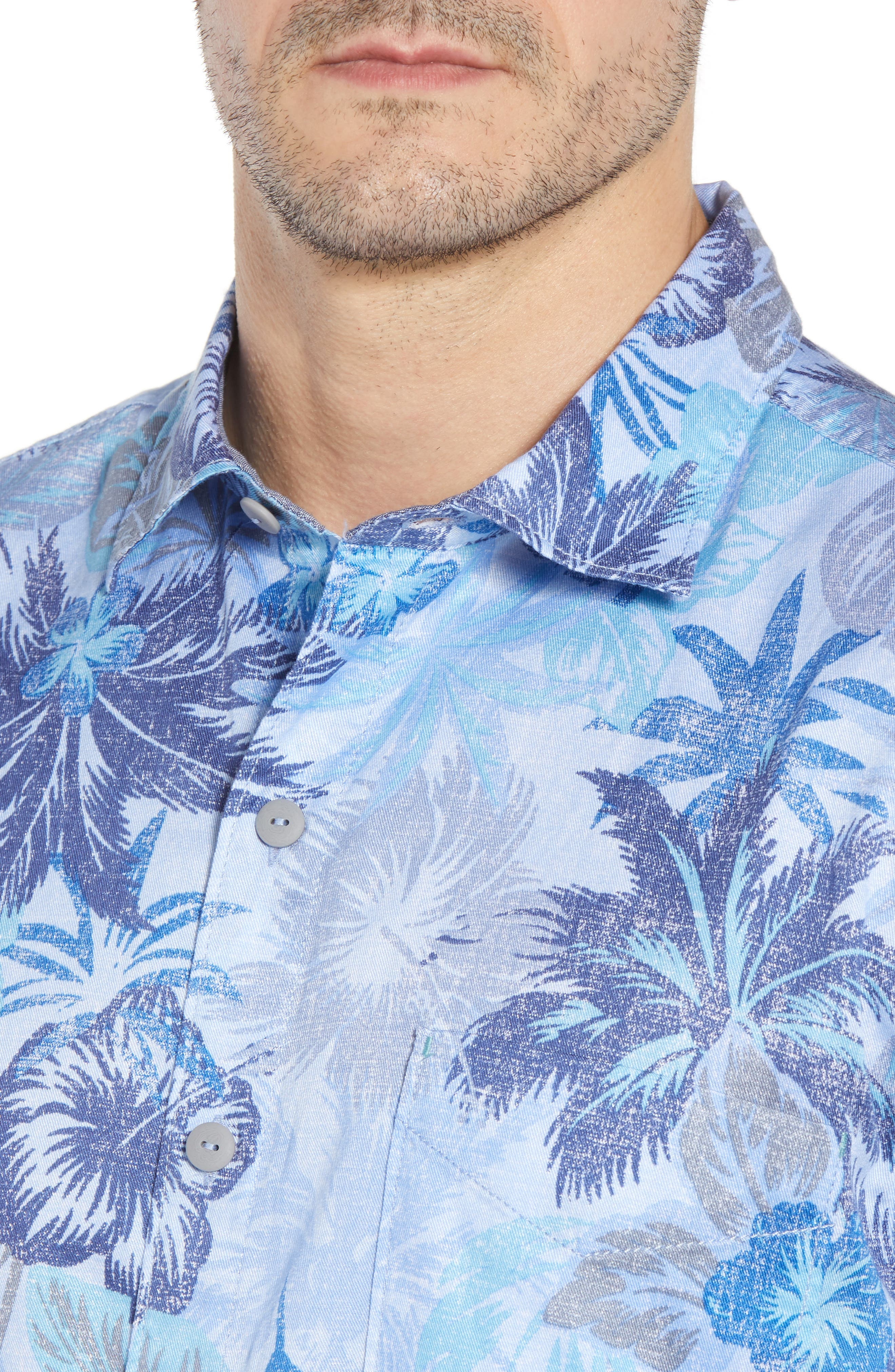 Fuego Flora Sport Shirt,                             Alternate thumbnail 2, color,                             Blue Isles