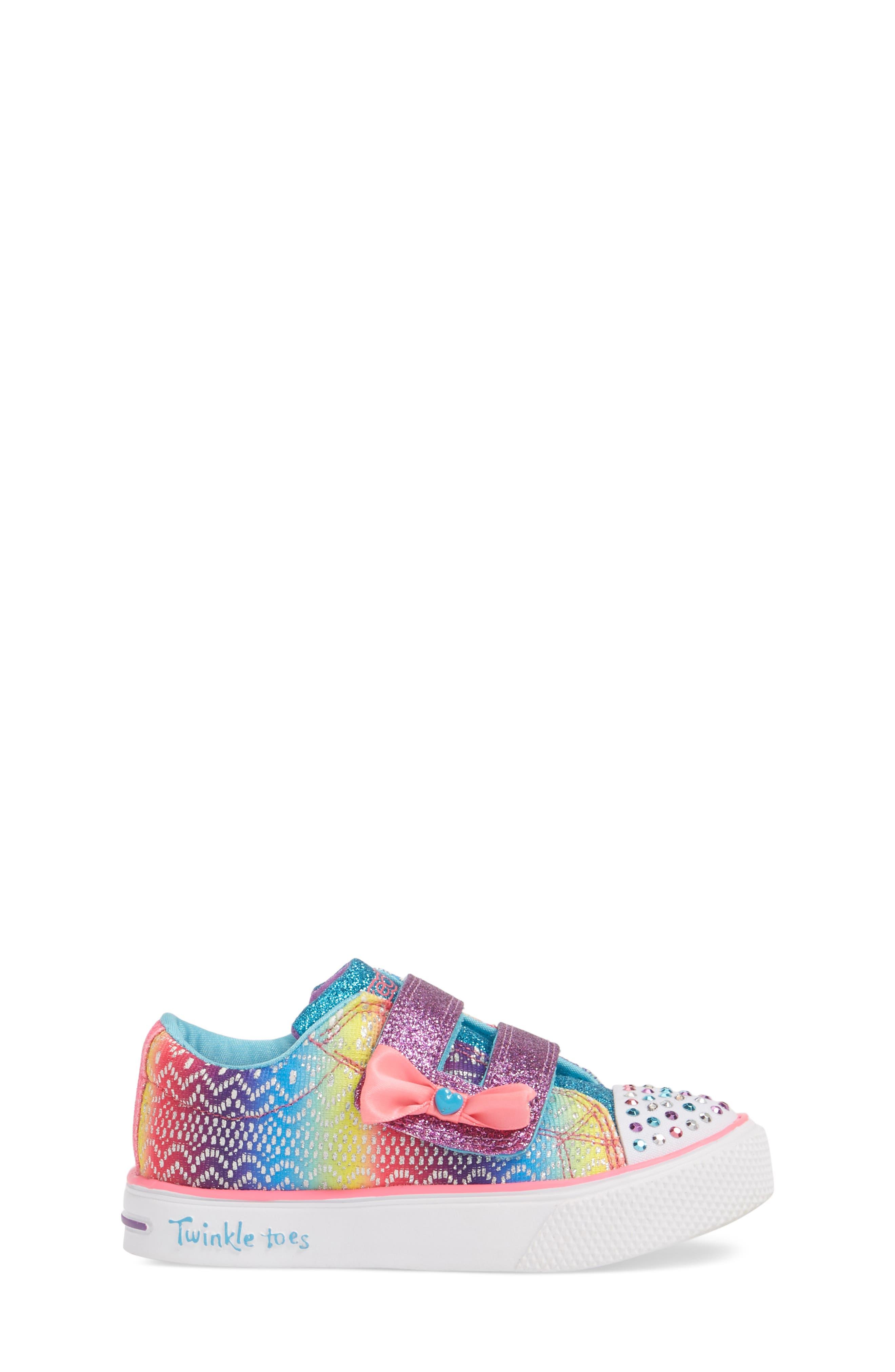 Twinkle Toes Breeze 2.0 Light-Up Sneaker,                             Alternate thumbnail 3, color,                             Multi