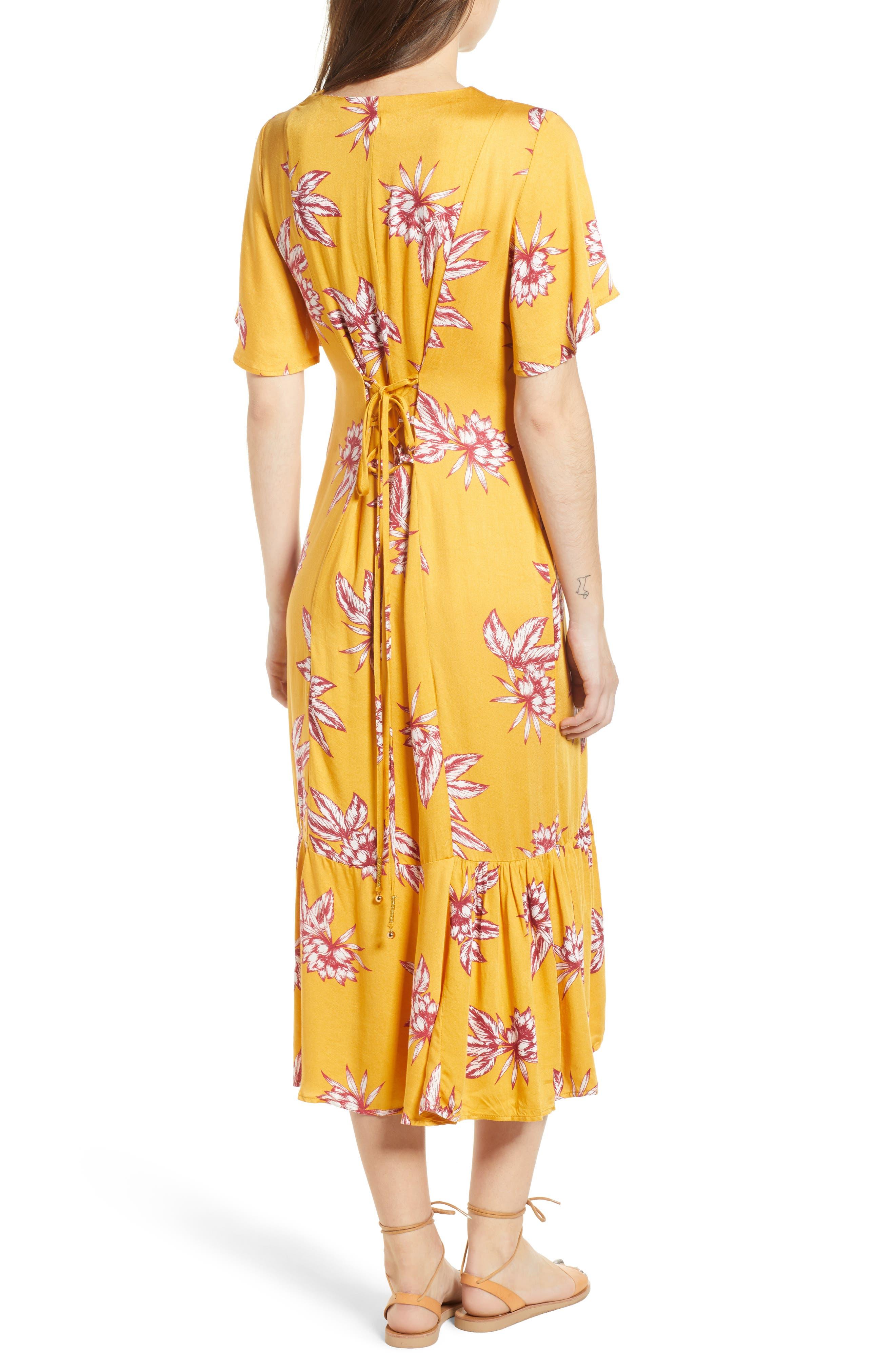 Searing Soul Midi Dress,                             Alternate thumbnail 3, color,                             Multi