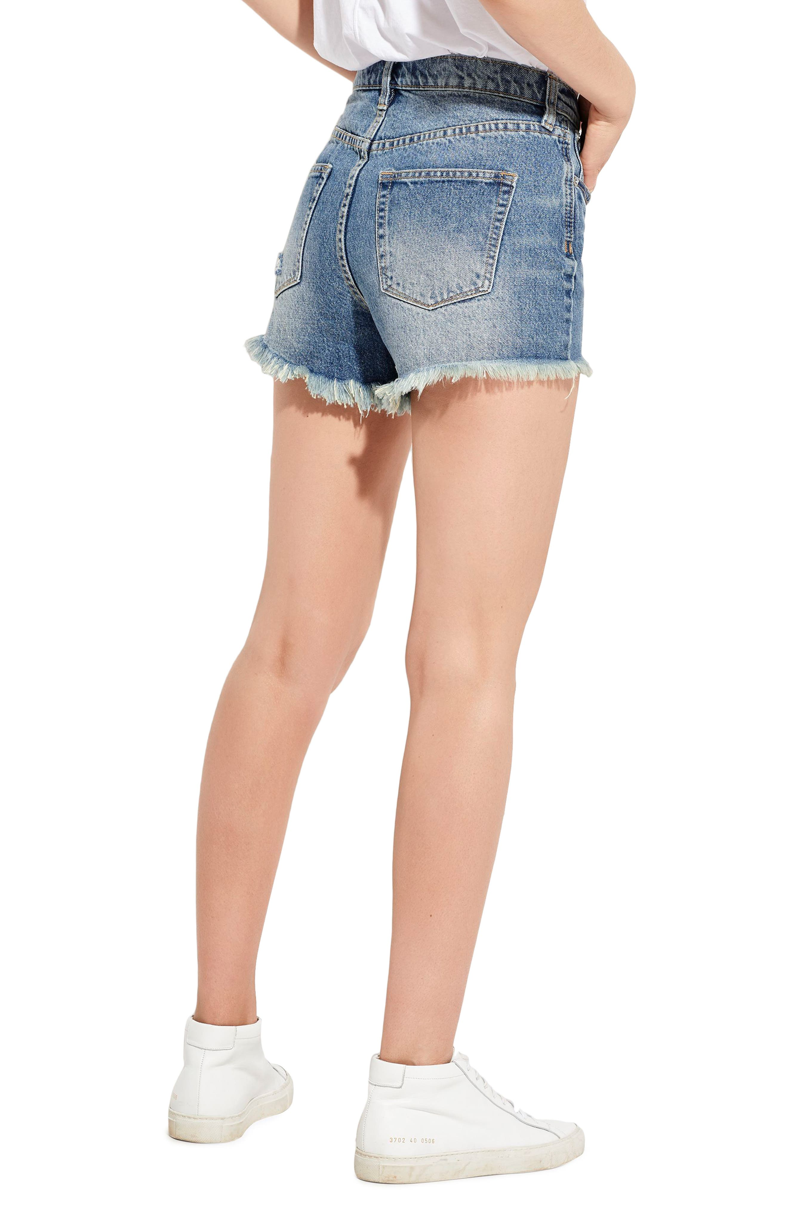 The Cutoff Denim Shorts,                             Alternate thumbnail 3, color,                             London Calling