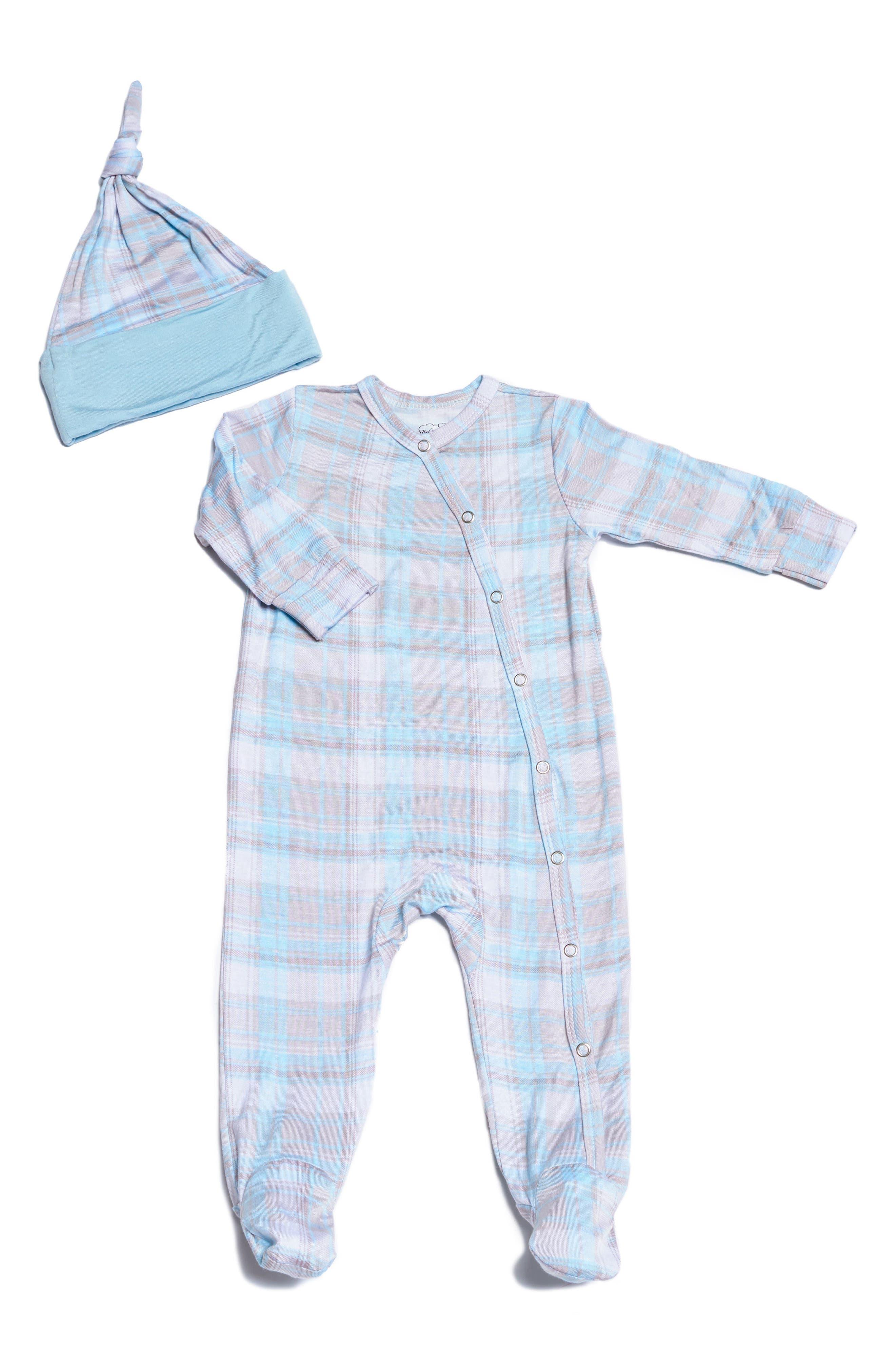 Baby Grey Footie & Hat Set (Baby Boys)