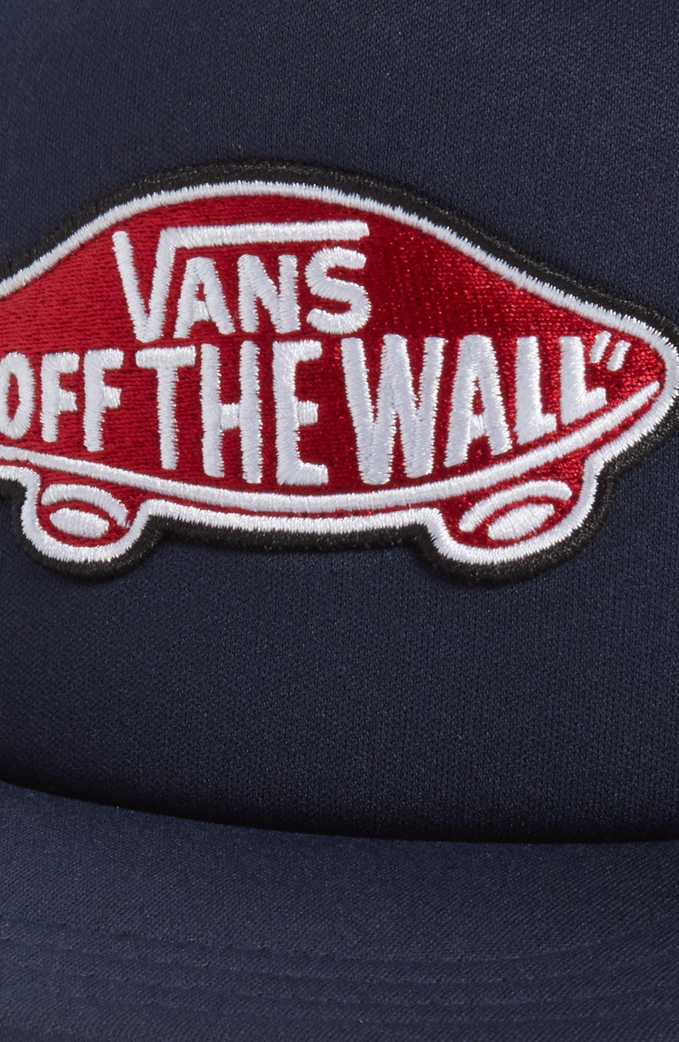 Classic Patch Trucker Hat,                             Alternate thumbnail 3, color,                             Dress Blues/ Chili Pepper