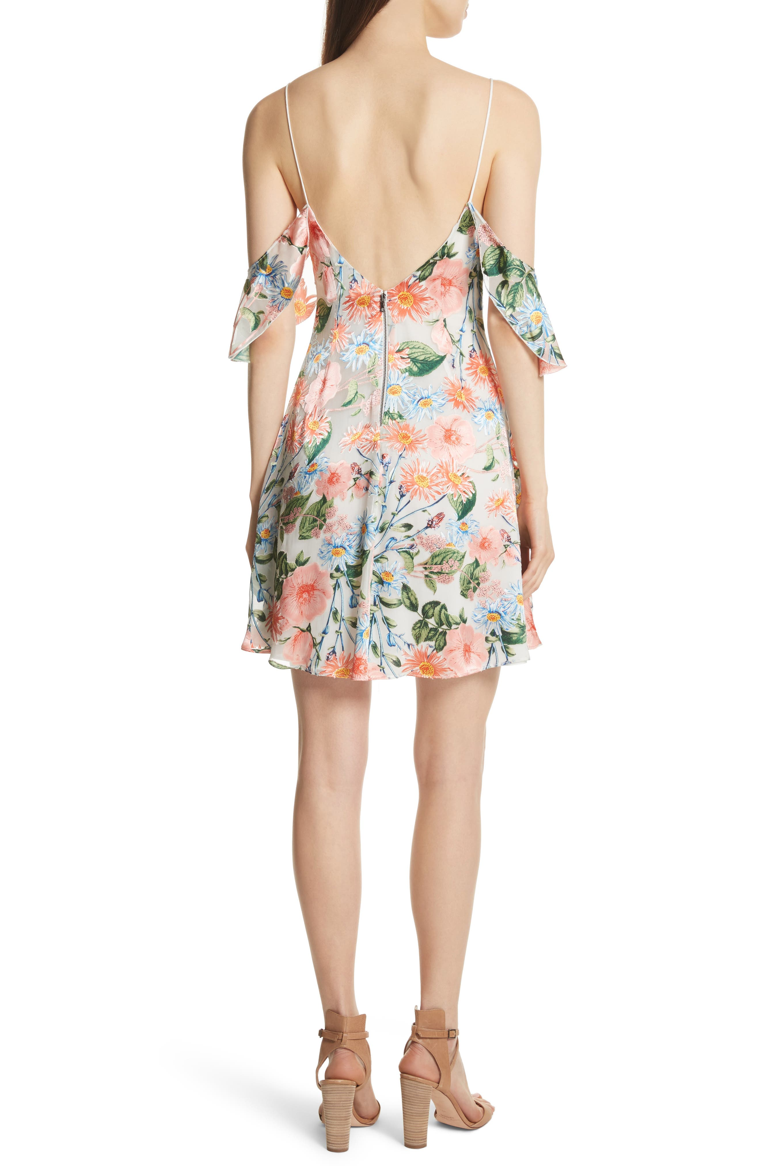 Alternate Image 2  - Alice + Olivia Alves Floral Cold Shoulder Dress