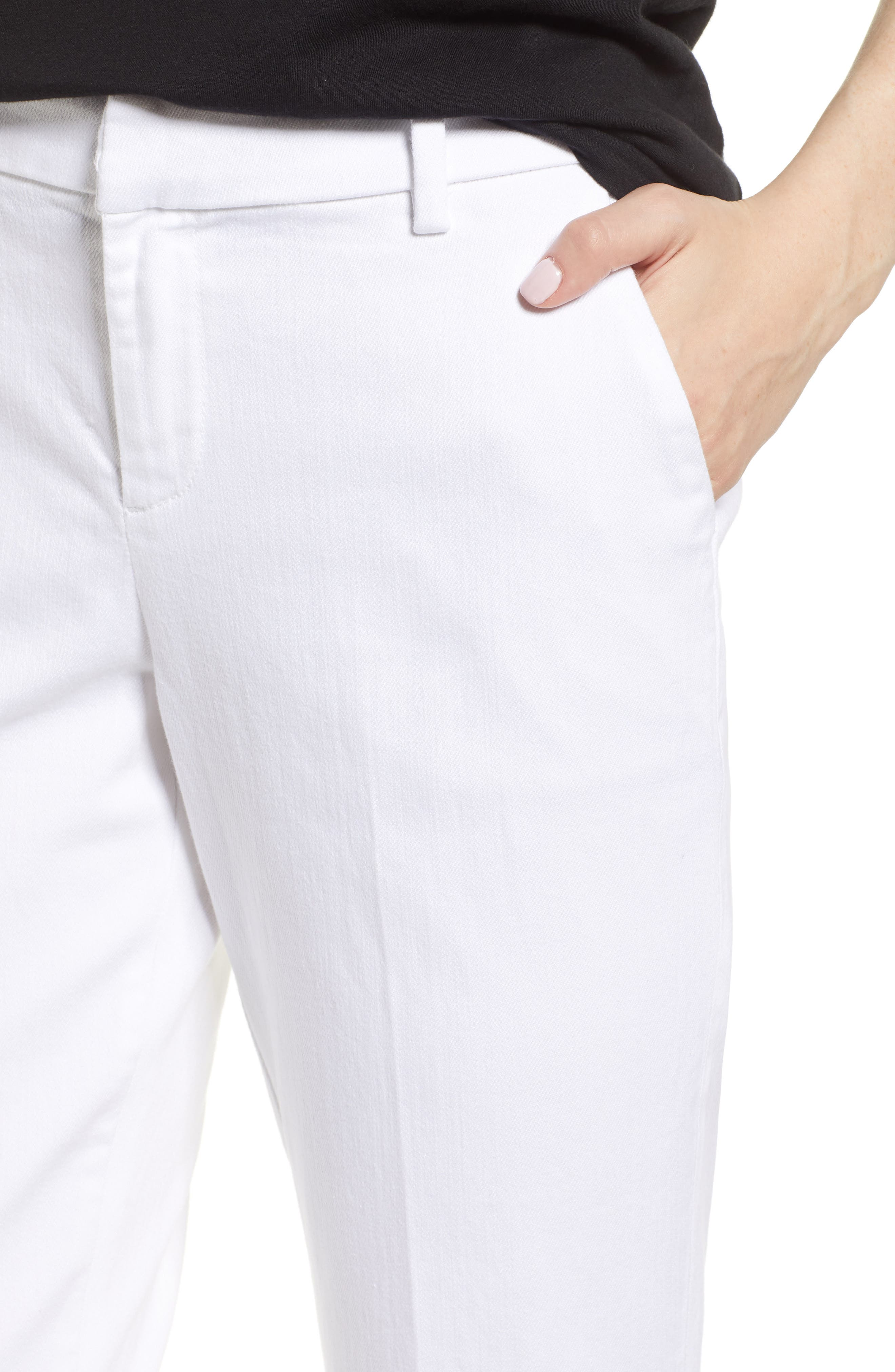 Kelsey Trousers,                             Alternate thumbnail 4, color,                             Bright White