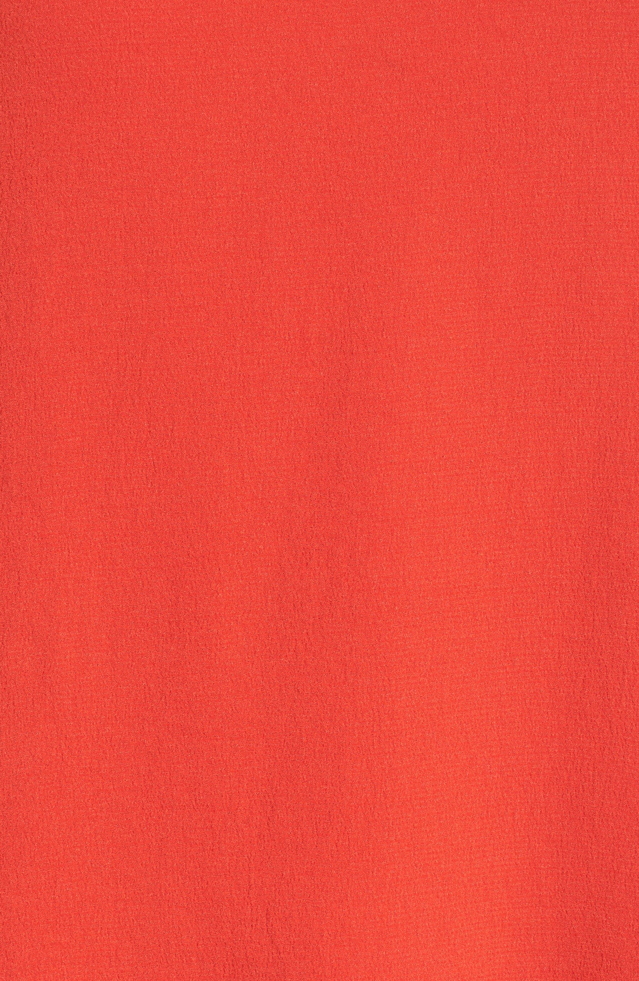 Ruffle Hem Swing Dress,                             Alternate thumbnail 6, color,                             Red Fiery