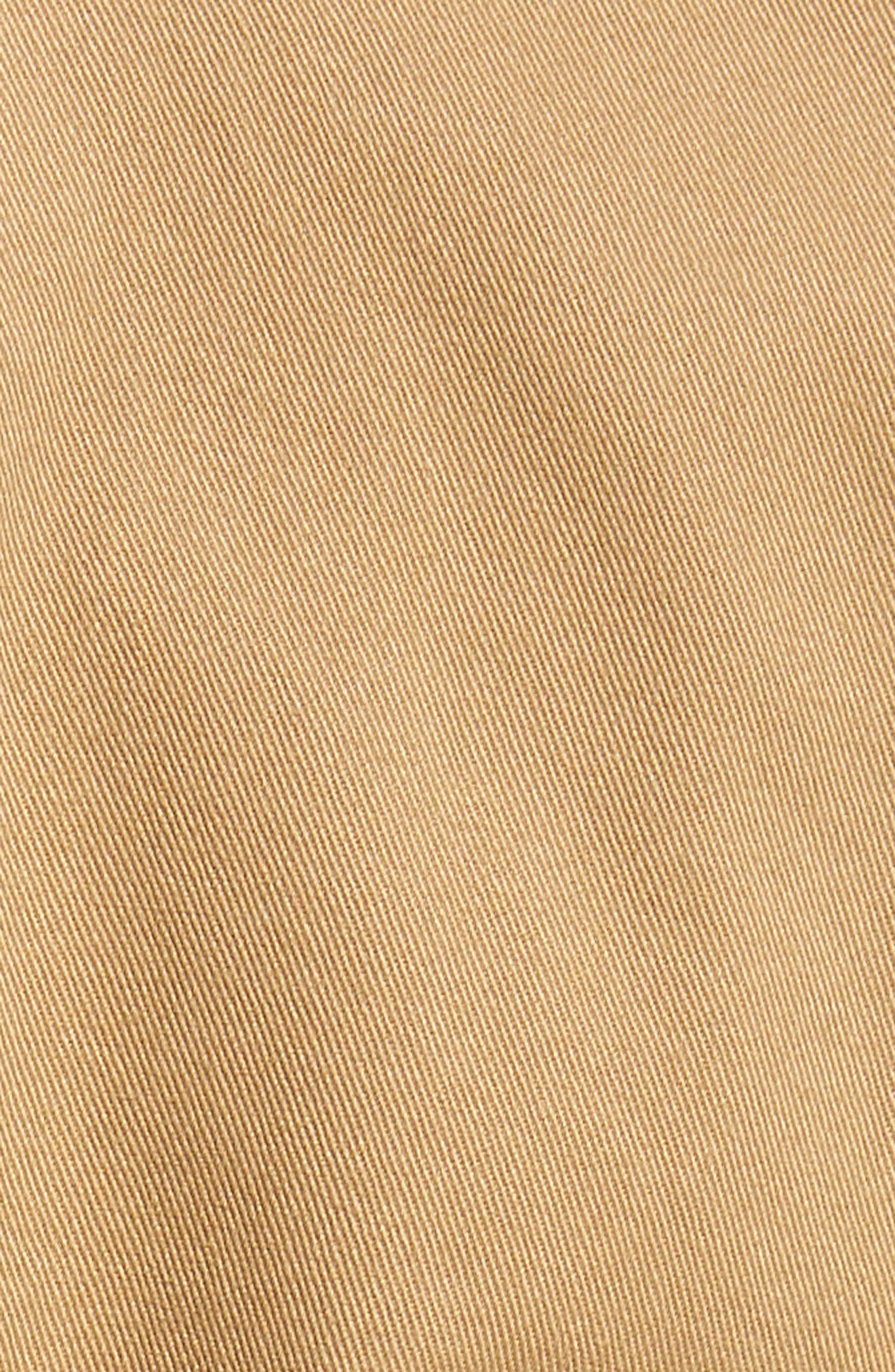 M2 Classic Fit Pleated Vintage Twill Pants,                             Alternate thumbnail 5, color,                             British Khaki