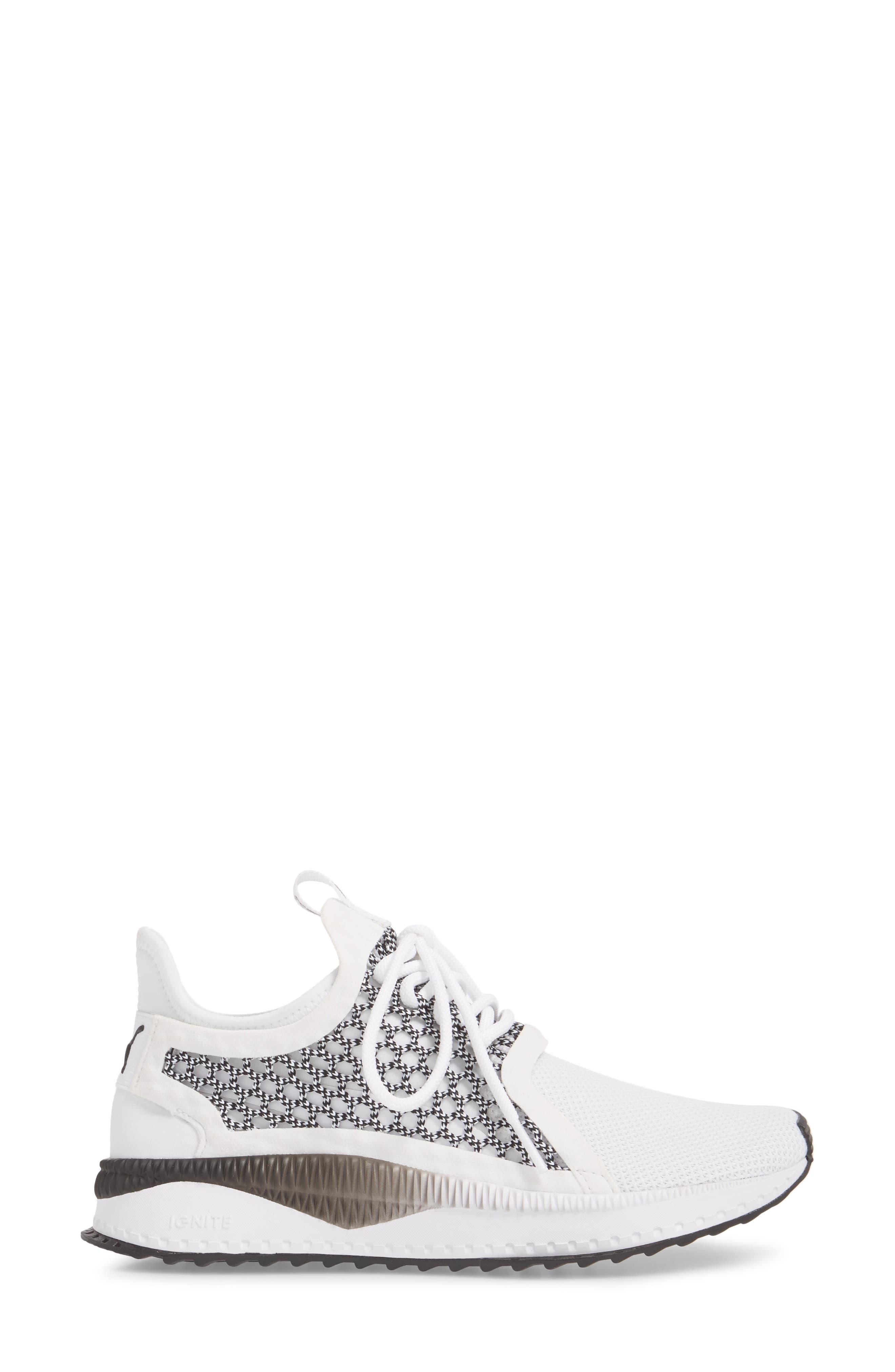 Tsugi Netfit evoKNIT Training Shoe,                             Alternate thumbnail 6, color,                             White/ Black
