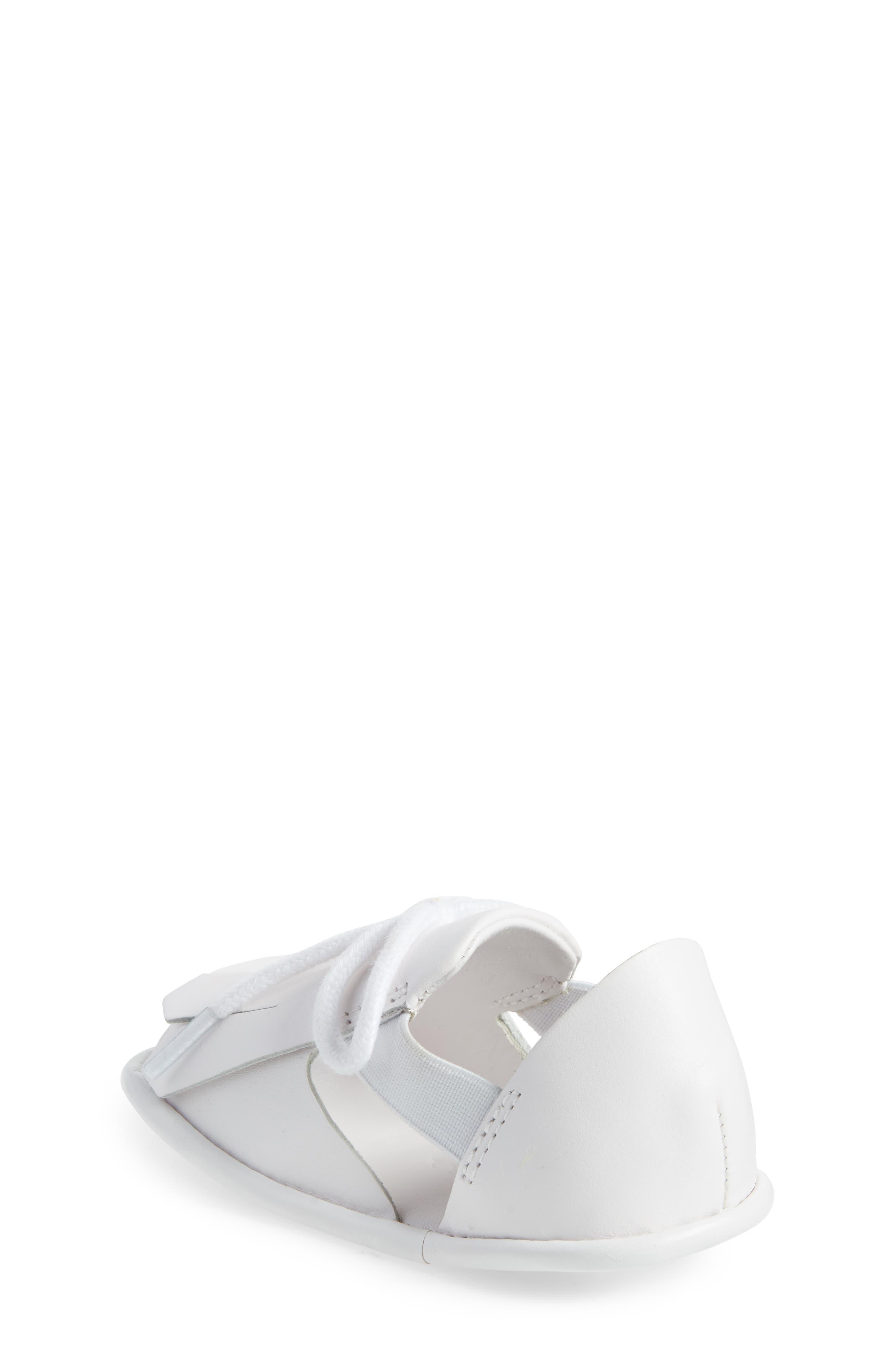 New Dawny Kiltie Fringe Crib Sandal,                             Alternate thumbnail 2, color,                             Optic White