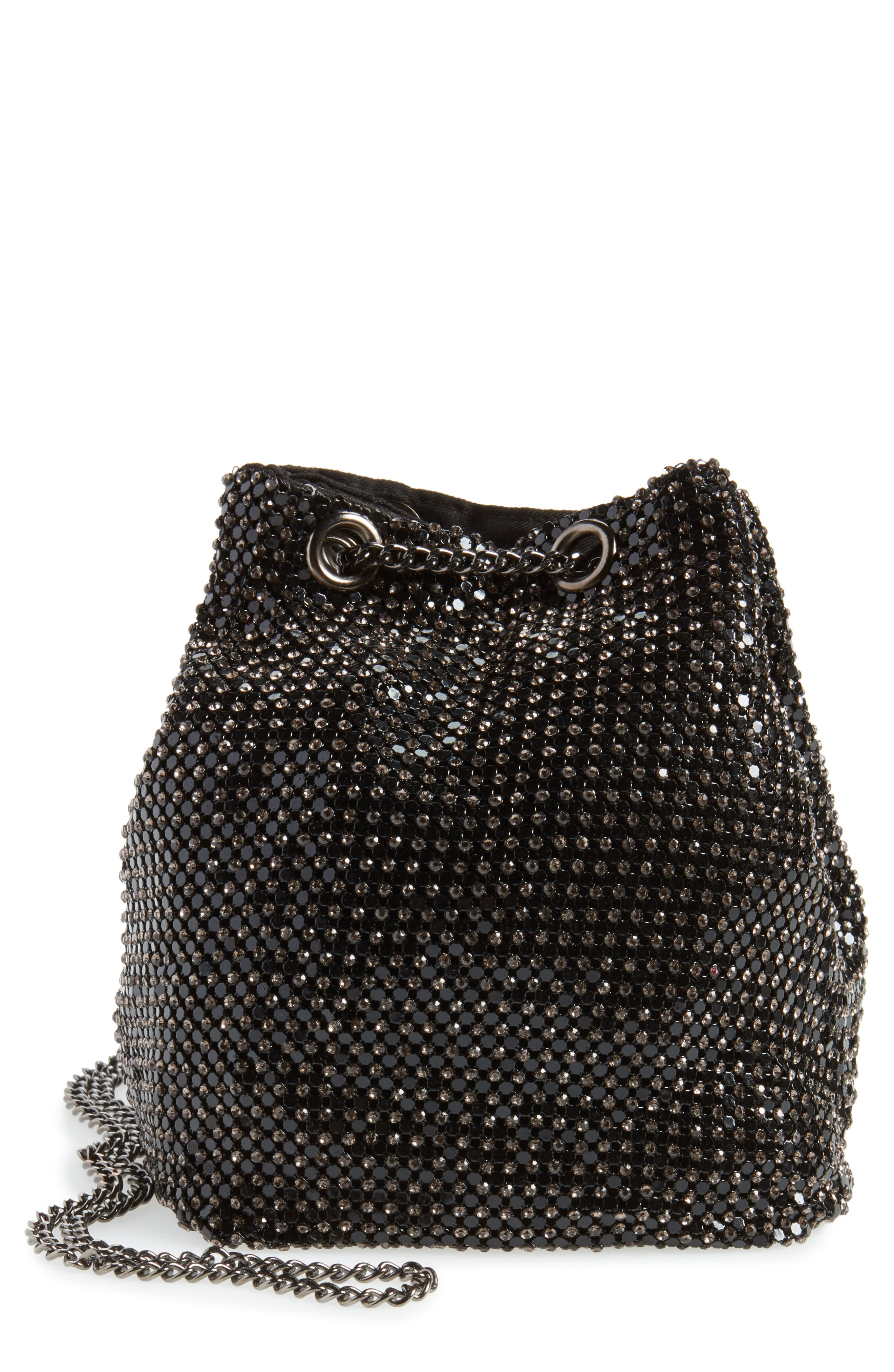Philippe Model Shoulder Bag for Women On Sale, Black, Leather, 2017, one size