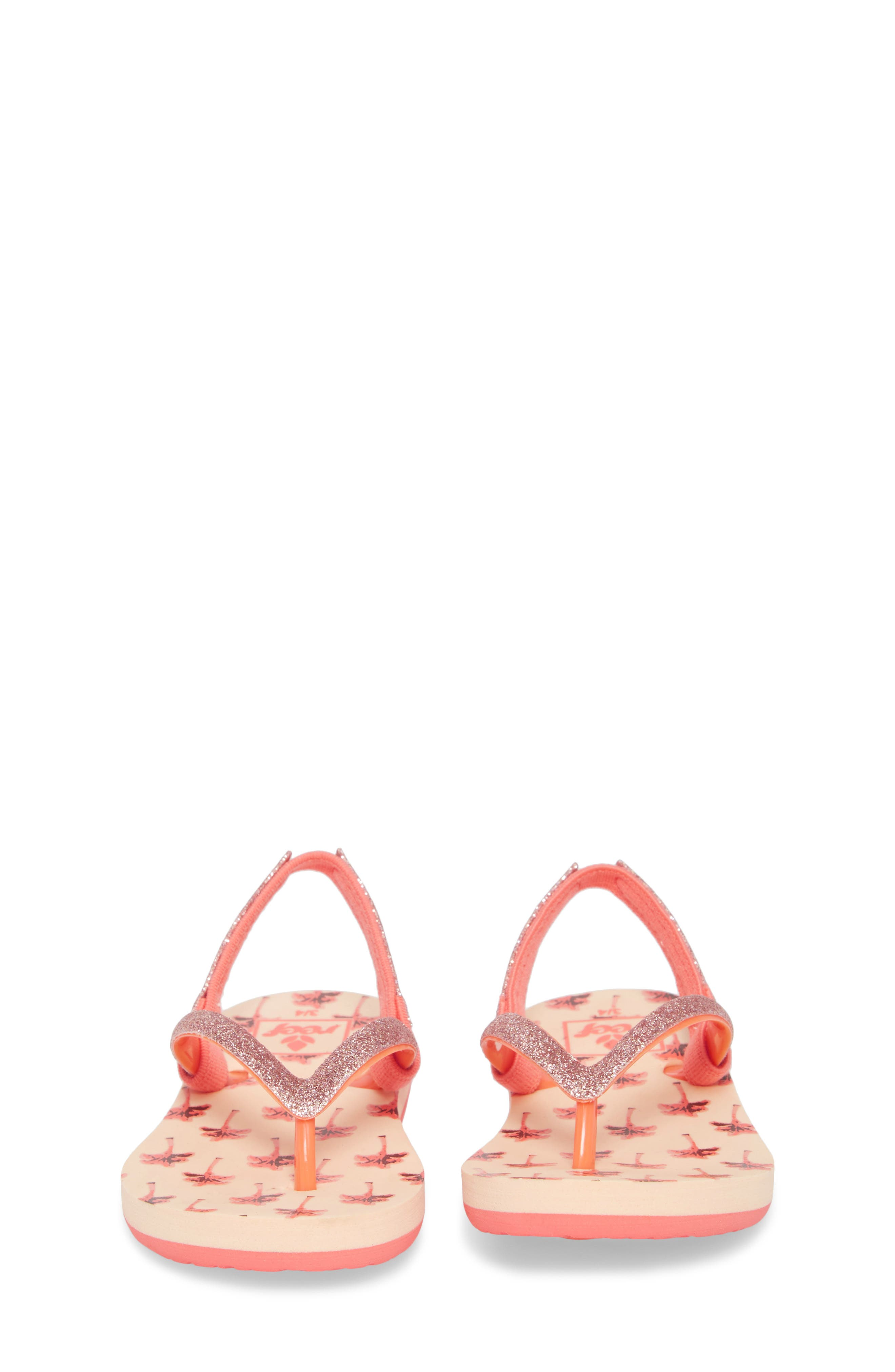 Little Stargazer Print Flip Flop,                             Alternate thumbnail 5, color,                             Orange